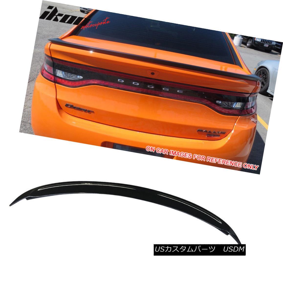 エアロパーツ Fits 13-16 Dodge Dart Factory Style Flushmount Trunk Spoiler Painted #PX8 Black フィット13-16ダッジダートファクトリースタイルフラッシングマウントトランクスポイラー#PX8ブラック