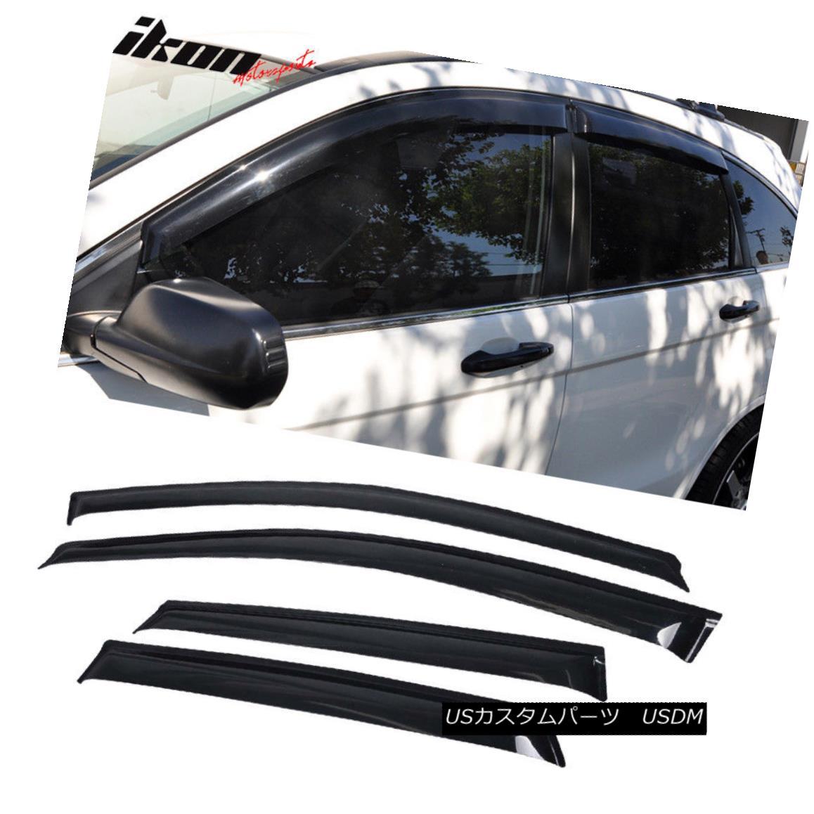 エアロパーツ Fits 07-11 Honda CRV Acrylic Window Visors 4Pc Set フィット07-11ホンダCRVアクリル窓バイザー4PCセット