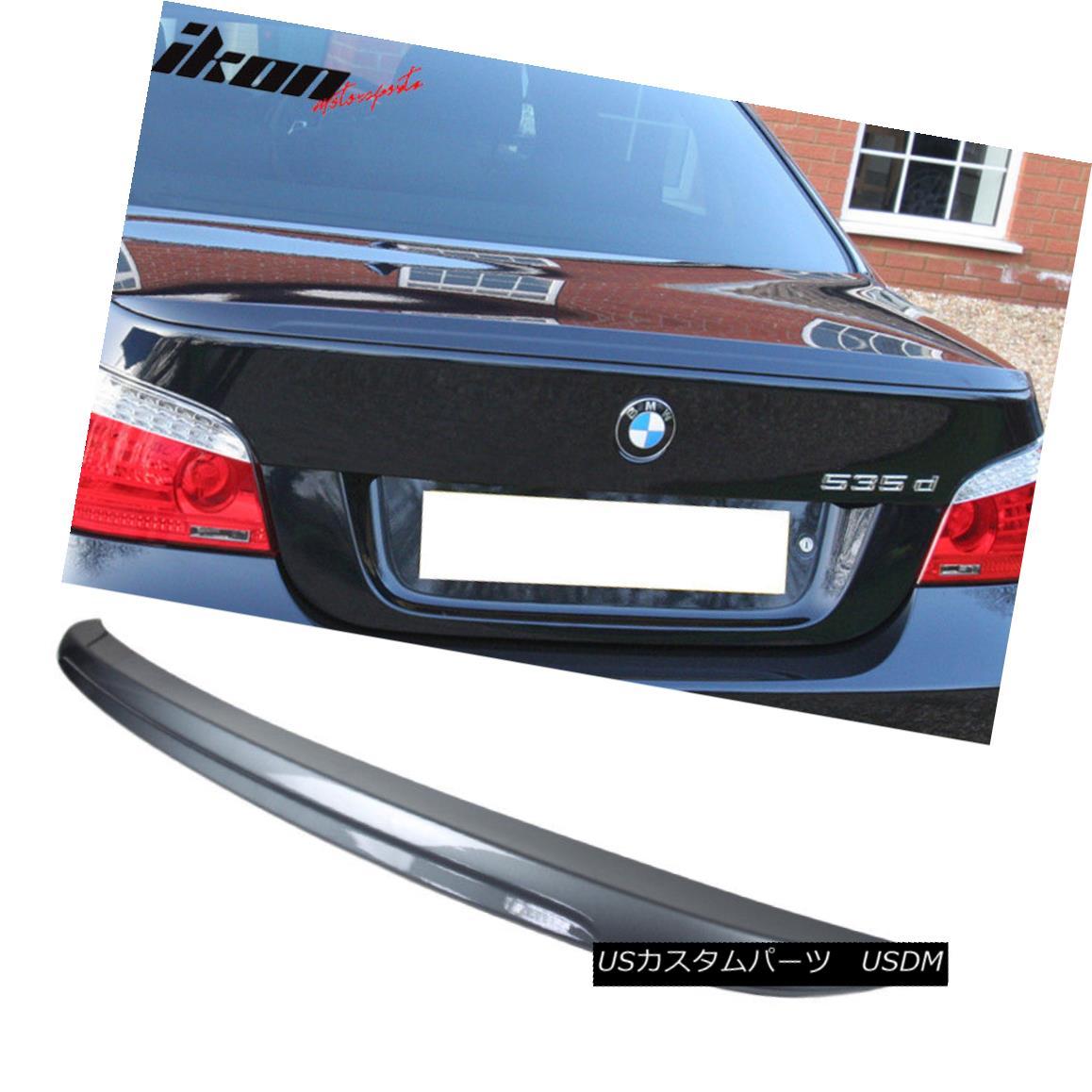 エアロパーツ 04-10 BMW E60 5-Series M5 Trunk Spoiler Painted #A08 Sterling Silver Metallic 04-10 BMW E60 5シリーズM5トランク・スポイラー#A08スターリングシルバー・メタリック