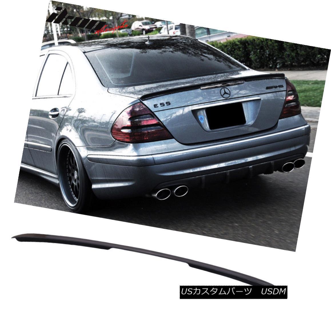 エアロパーツ 03-09 Benz E-Class W211 4Dr AMG Trunk Spoiler Painted #359 Capri Blue Metallic 03-09ベンツEクラスW211 4Dr AMGトランク・スポイラー#359カプリ・ブルー・メタリック