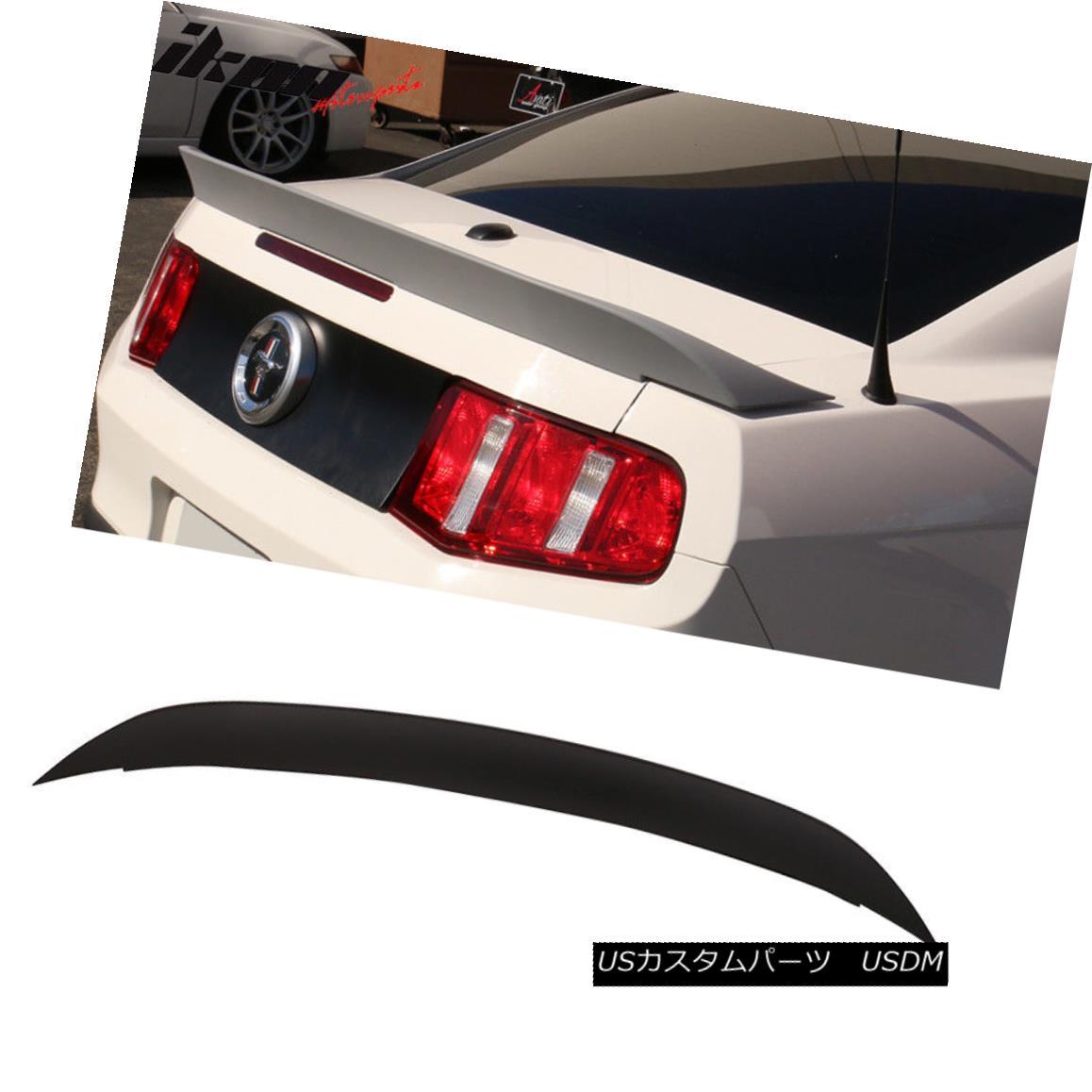 エアロパーツ 10-14 Ford Mustang Cobra GT500 Style Unpainted Trunk Spoiler Duck Tail - ABS 10-14フォードマスタングコブラGT500スタイル未塗装トランクスポイラーダックテール - ABS