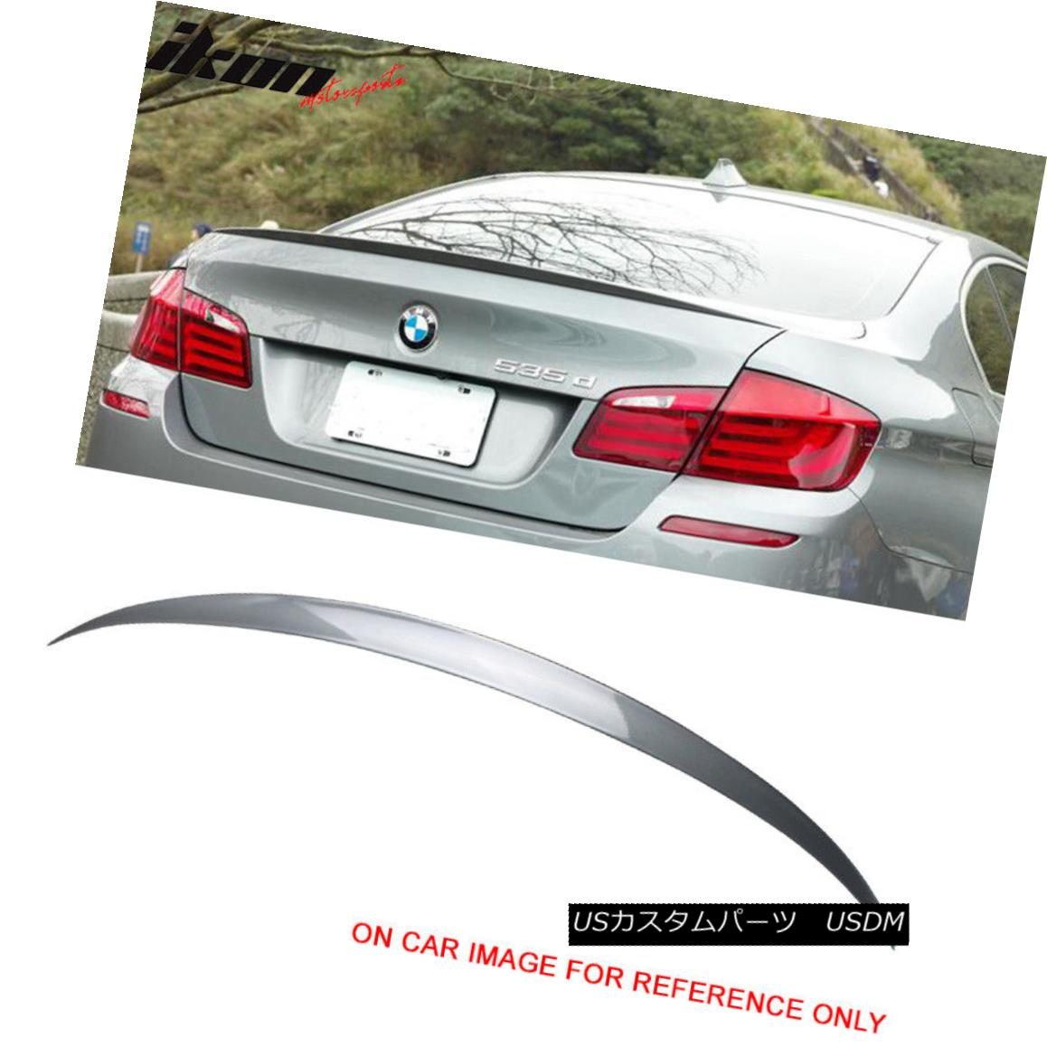 エアロパーツ 11-16 BMW F10 Sedan 4Dr M5 Style Painted Trunk Spoiler #A52 Space Gray Metallic 11-16 BMW F10セダン4Dr M5スタイル塗装トランク・スポイラー#A52スペース・グレー・メタリック