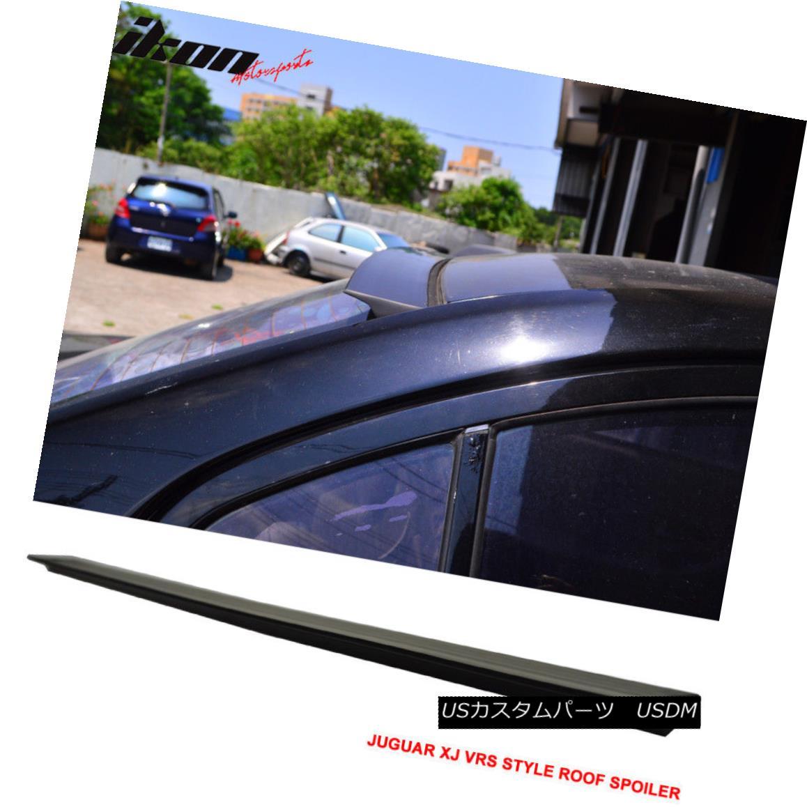 エアロパーツ 10-16 Jaguar XJ VRS Style Unpainted Rear Roof Spoiler Wing Visor - PUF 10-16ジャガーXJ VRSスタイル未塗装リアルーフスポイラーウイングバイザー - PUF