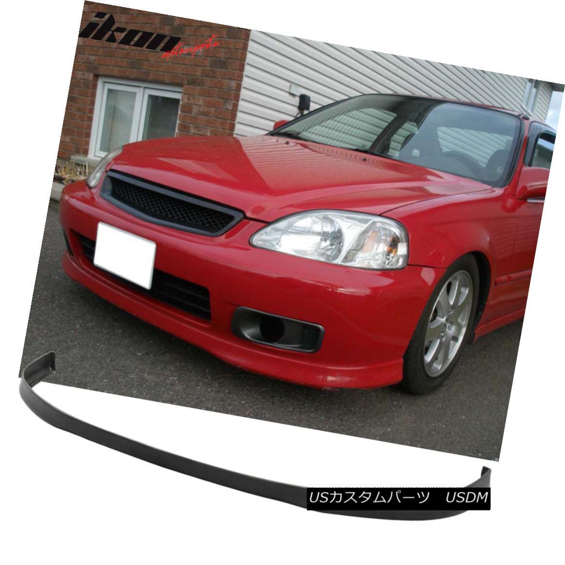 大きな取引 エアロパーツ Fits 99-00 Civic 2Dr 3Dr 4Dr OE Style Front Bumper Lip Spoiler - Urethane PU Fit 99-00 Civic 2Dr 3Dr 4Dr OEスタイルフロントバンパーリップスポイラー - ウレタンPU, GRANDY 5d303173