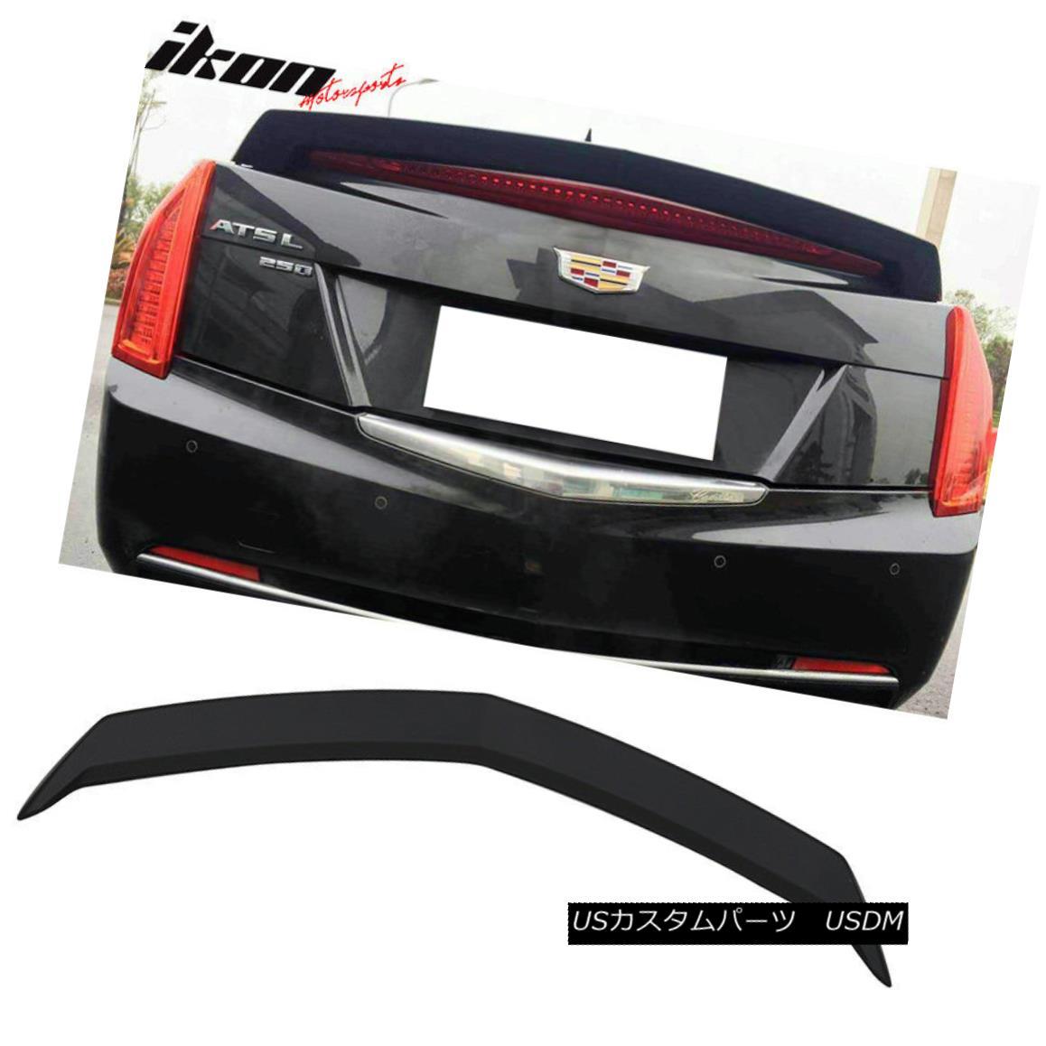 エアロパーツ Fits 13-18 Cadillac ATS Sedan V Style Trunk Spoiler Black ABS フィット13-18キャデラックATSセダンVスタイルトランクスポイラーブラックABS