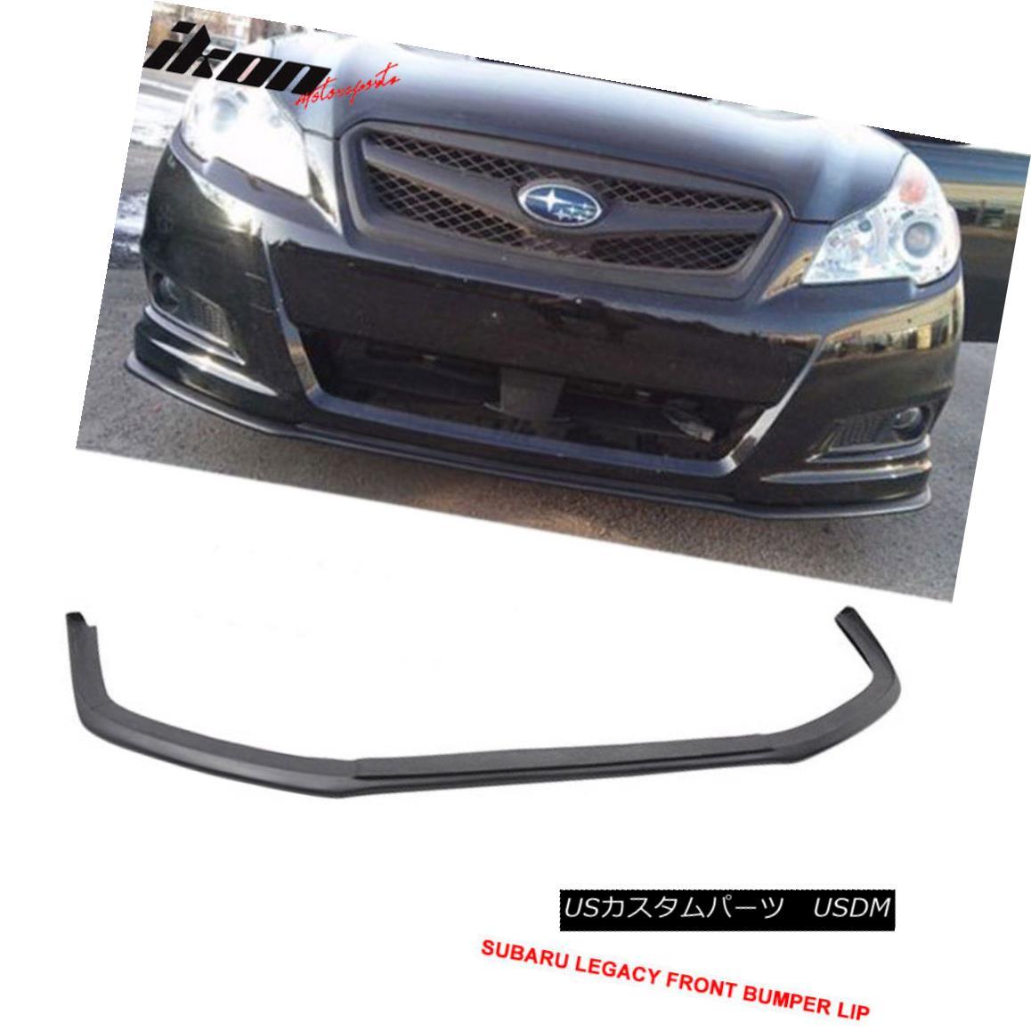 リアル エアロパーツ Fit For 10-12 Subaru Legacy V-Limited Front Bumper Lip Urethane スバルレガシィV-Limitedフロントバンパーリップウレタン, テンスイマチ d86a580b
