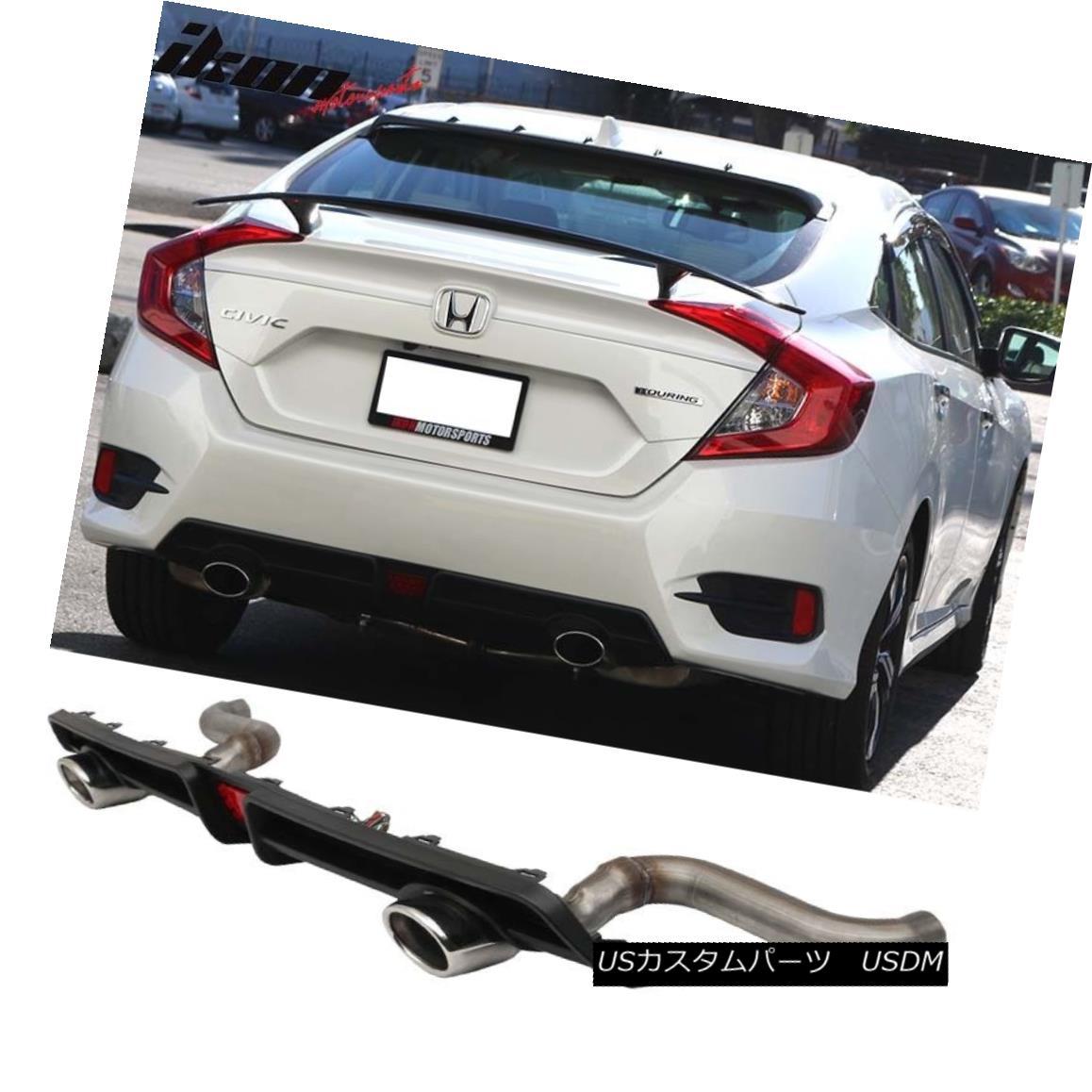 Stock H Type Rear Roof Spoiler Wing For Honda Accord 2003~07 EX LX DX Sedan