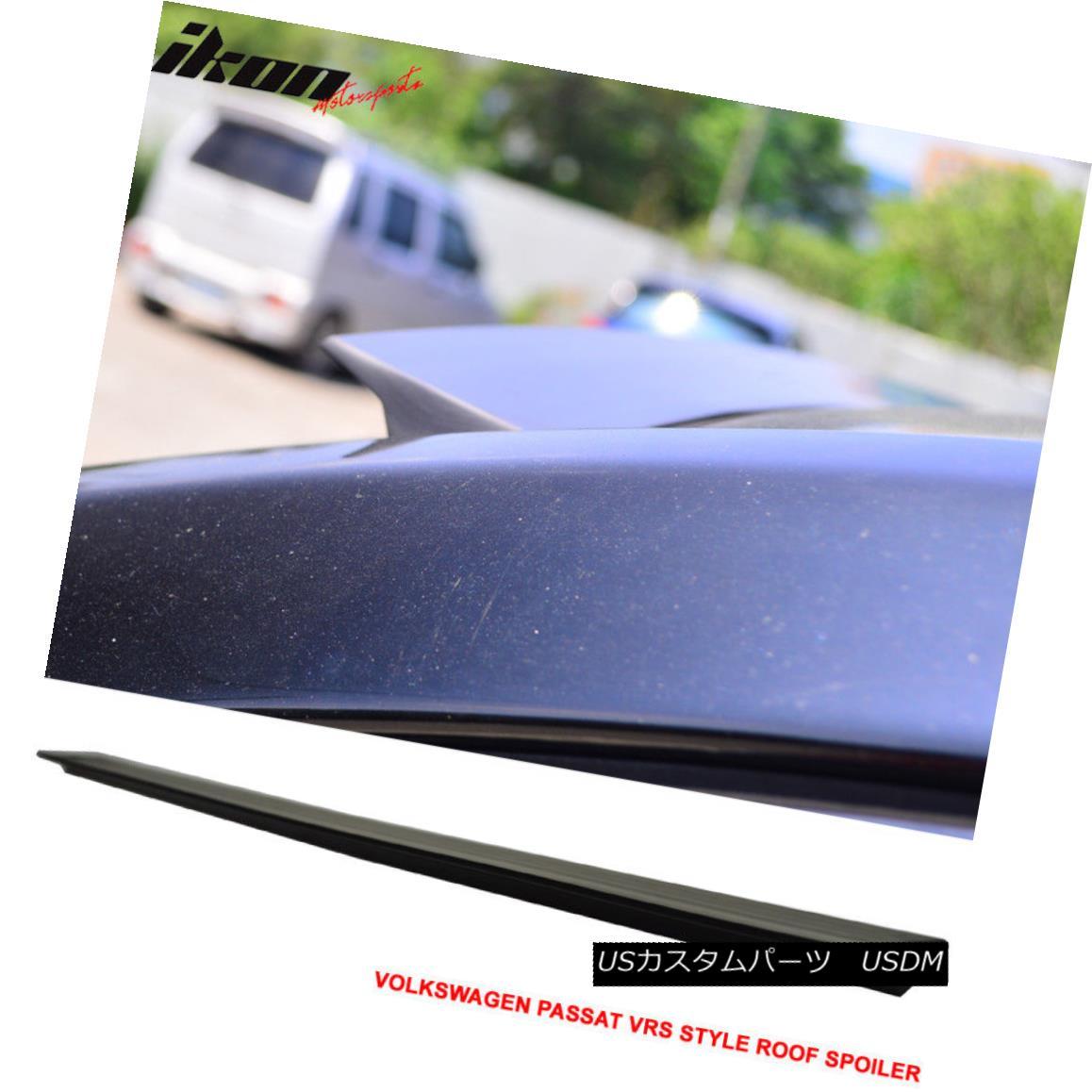 エアロパーツ 11-17 VW Passat B7 VRS Style Unpainted Rear Roof Spoiler Wing Visor - PUF 11-17 VWパサートB7 VRSスタイル未塗装リアルーフスポイラーウイングバイザー - PUF