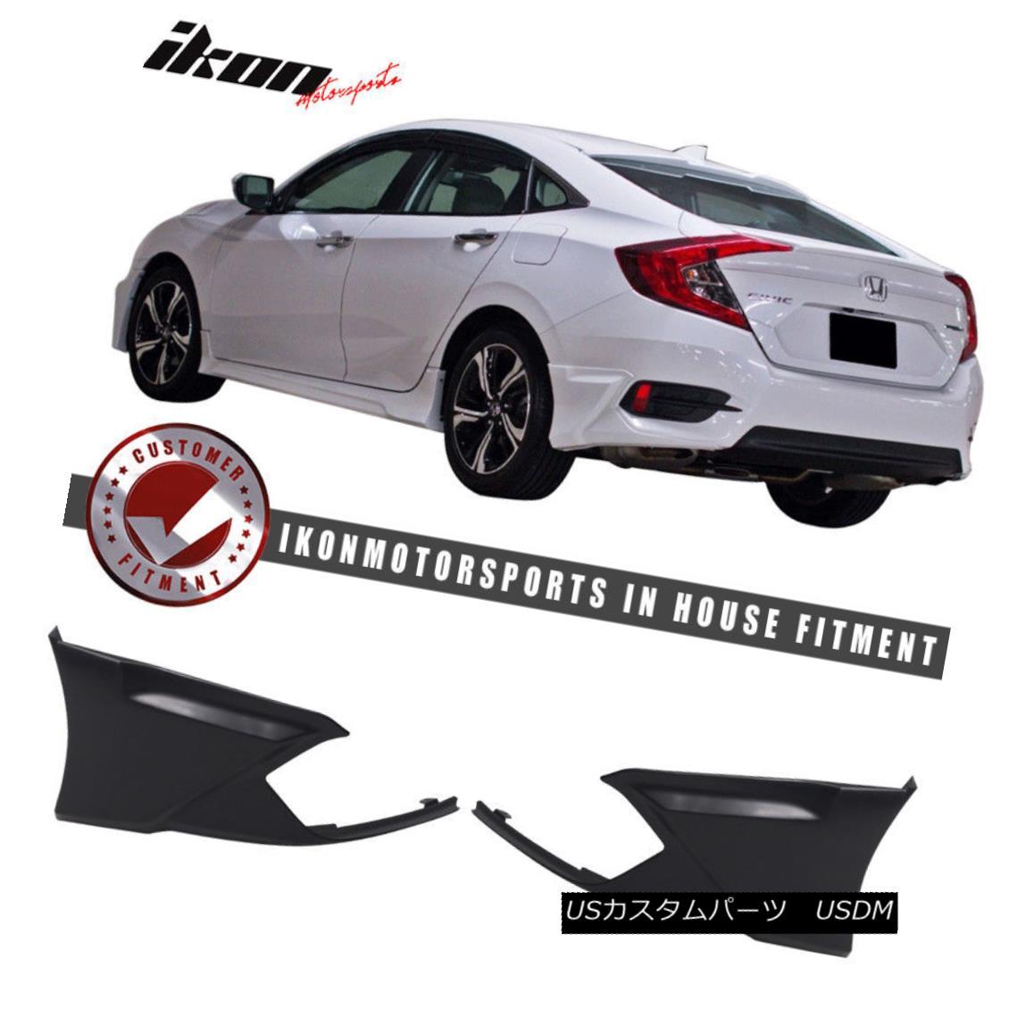 エアロパーツ Special Deal! Fits 16-18 Civic Sedan Coupe HF-P Modulo Rear Bumper Lip Splitter 特別割引! フィット16-18シビックセダンクーペHF-Pモジュロリアバンパーリップスプリッター