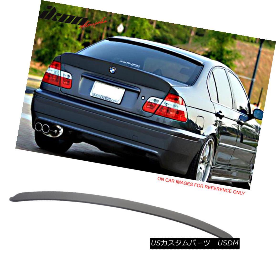 エアロパーツ Fits 99-05 BMW E46 3 Series Sedan AC-S Painted Matte Black Roof Spoiler - ABS フィット99-05 BMW E46 3シリーズセダンAC-S塗装マットブラックルーフスポイラー - ABS