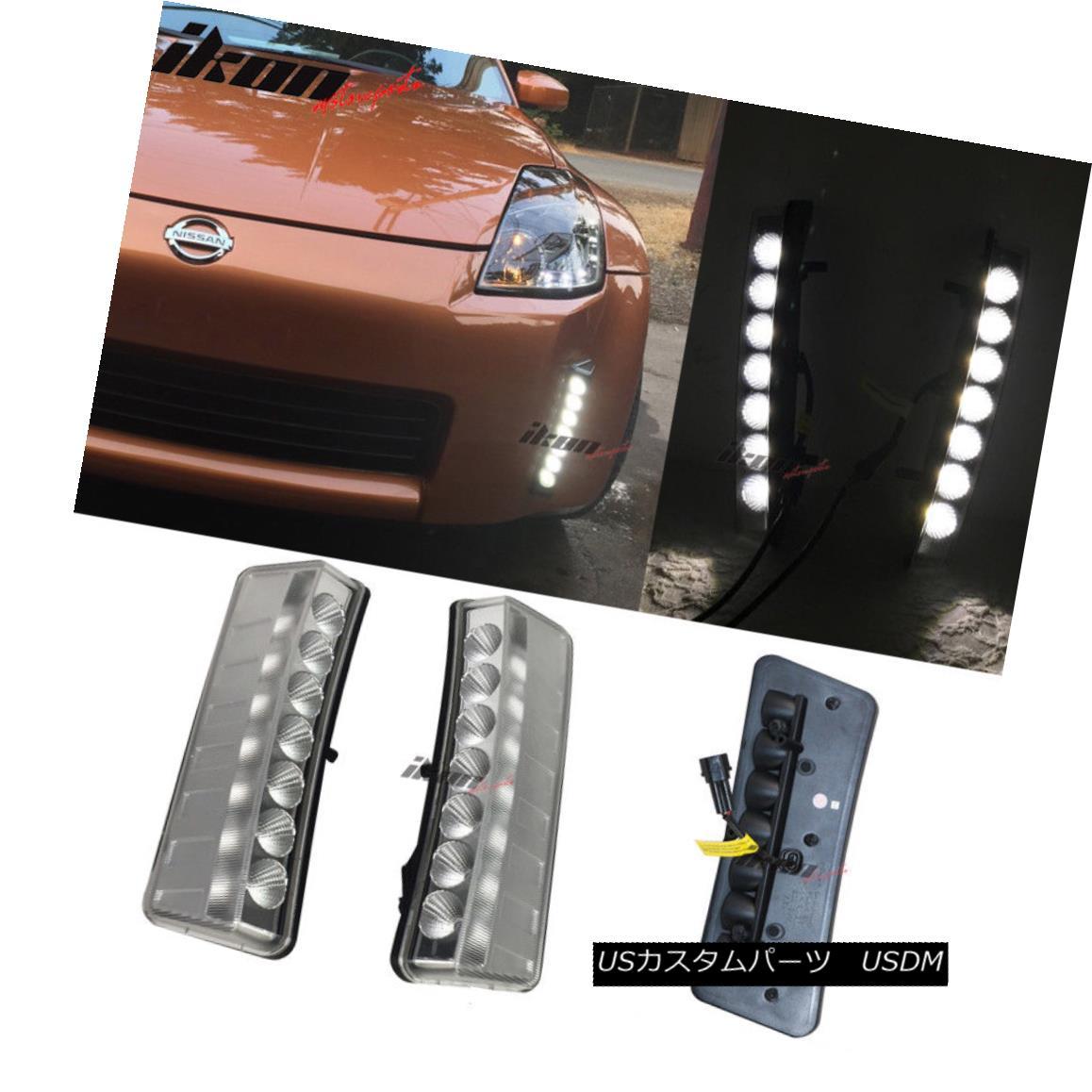 格安SALEスタート! エアロパーツ Fit 03-05 350Z Clear 7-LED Front Bumper Reflector Daytime Running Lights DRL フィット03-05 350Zクリア7 LEDフロントバンパーリフレクターデイタイムランニングライトDRL, annadonna アンナドンナ 87c1214f