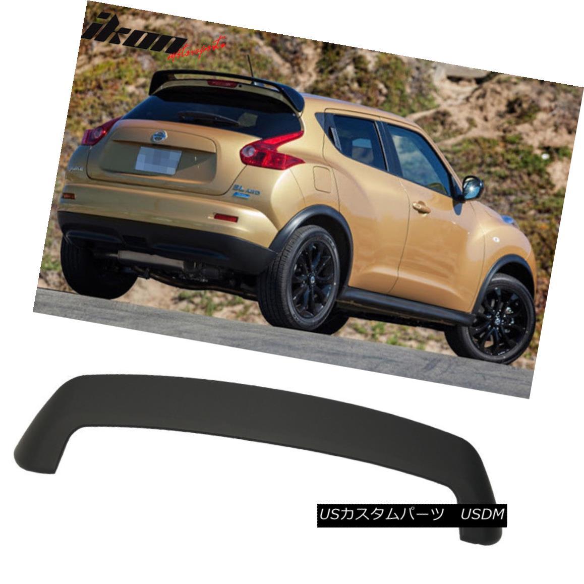エアロパーツ Fits 11-17 Nissan Juke OE Style Rear Roof Spoiler Wing ABS Matte Black フィット11-17日産ジュークOEスタイルリアルーフスポイラーウィングABSマットブラック