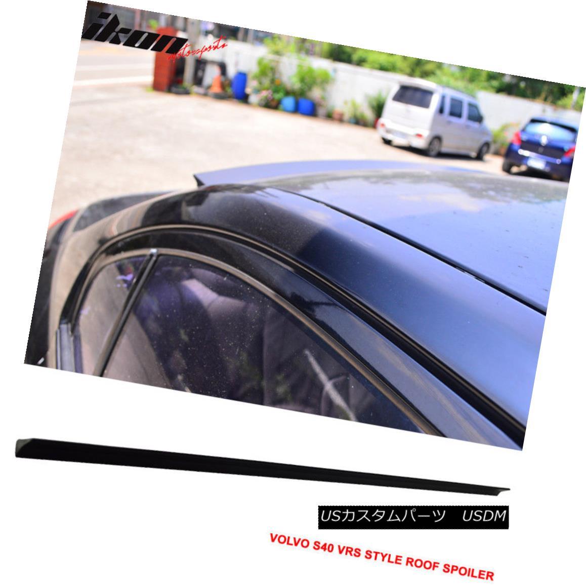 エアロパーツ 08-12 S40 2nd facelift VRS Style Unpainted Rear Roof Spoiler Wing Visor - PUF 08-12 S40第2フェイスリフトVRSスタイル未塗装リアルーフスポイラーウイングバイザー - PUF