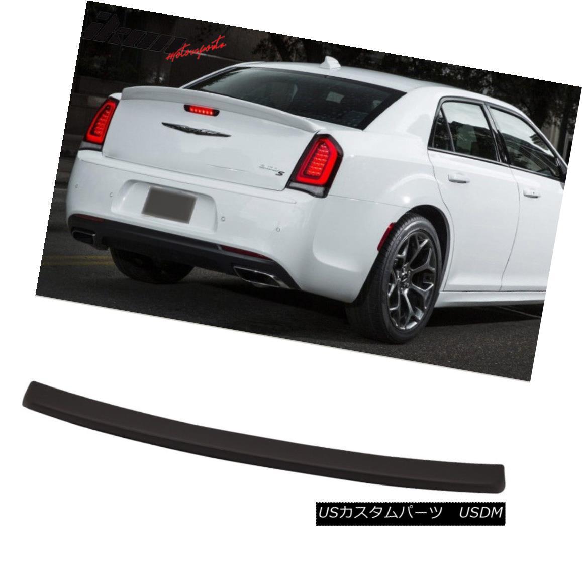 エアロパーツ Fits 15-18 Chrysler 300 SRT Style Trunk Spoiler Matte Black ABS Plastics フィット15-18クライスラー300 SRTスタイルのトランクスポイラーマットブラックABS樹脂