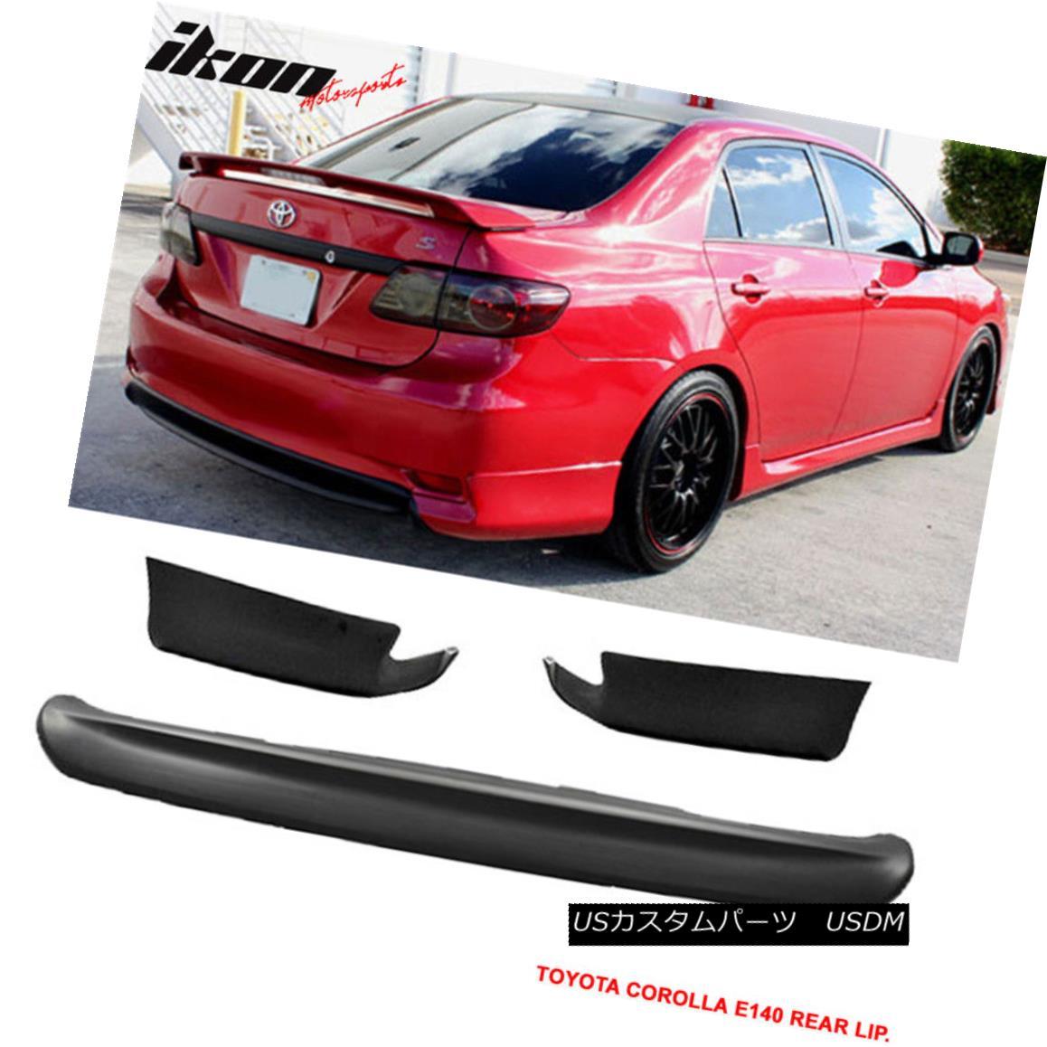 エアロパーツ Fits 11-13 E140 Corolla S 10 & 10.5 Gen Conversion Rear Bumper Lip Sport PP 適合11~13 E140カローラS 10& 10.5 Gen変換リアバンパーリップスポーツPP