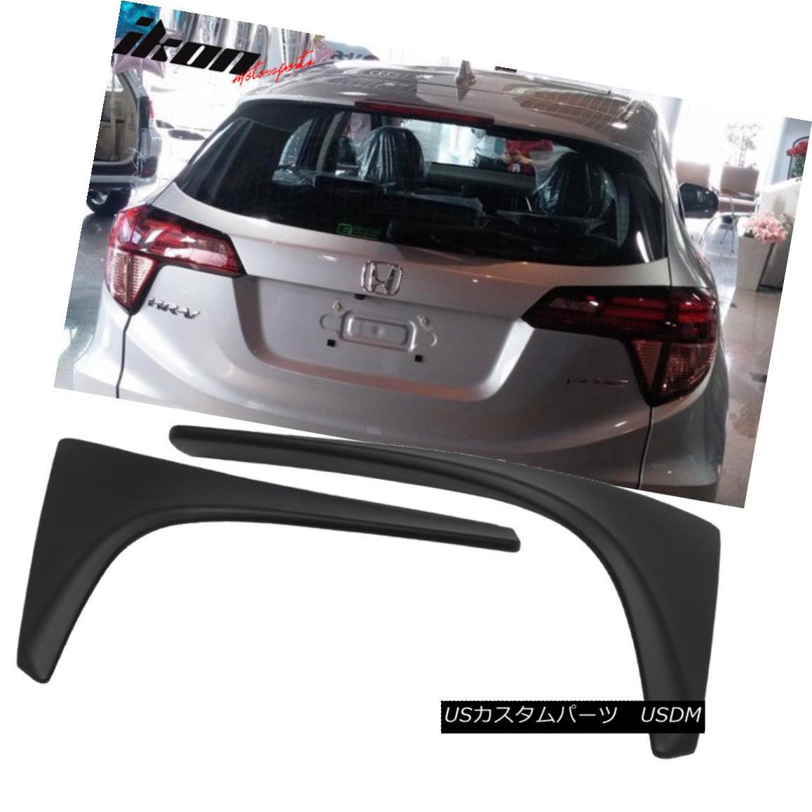 エアロパーツ Fits 16-18 Honda HRV HR-V OE Factory MUGEN STY ABS Rear Add-on Roof Spoiler Wing フィット16-18 Honda HRV HR-V OE工場MUGEN STY ABSリアアドオンルーフスポイラーウイング