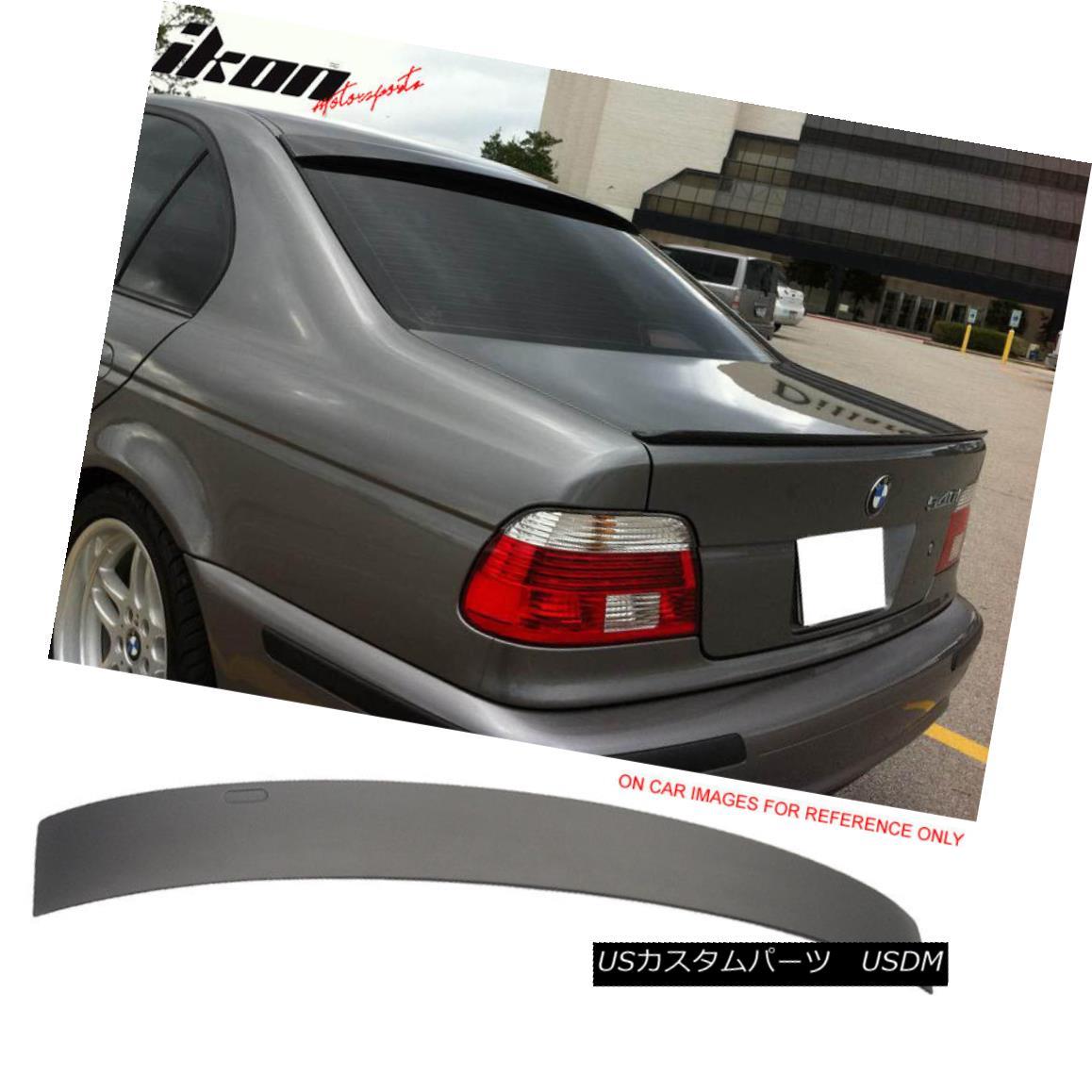 エアロパーツ Fits 96-03 BMW E39 5 Series AC Style Painted Matte Black Roof Spoiler Wing フィット96?03 BMW E39 5シリーズACスタイル塗装マットブラックルーフスポイラーウィング