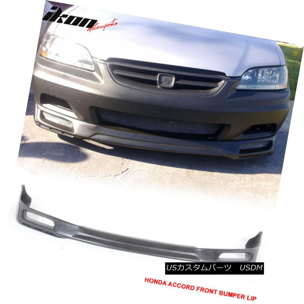 【50%OFF】 エアロパーツ PU Fits 98-02 Honda Accord Coupe 2Dr Front Bumper Lip Spoiler Black PU Fits 98-02ホンダアコードクーペ2Drフロントバンパーリップスポイラーブラック, 角田市 50e99a71