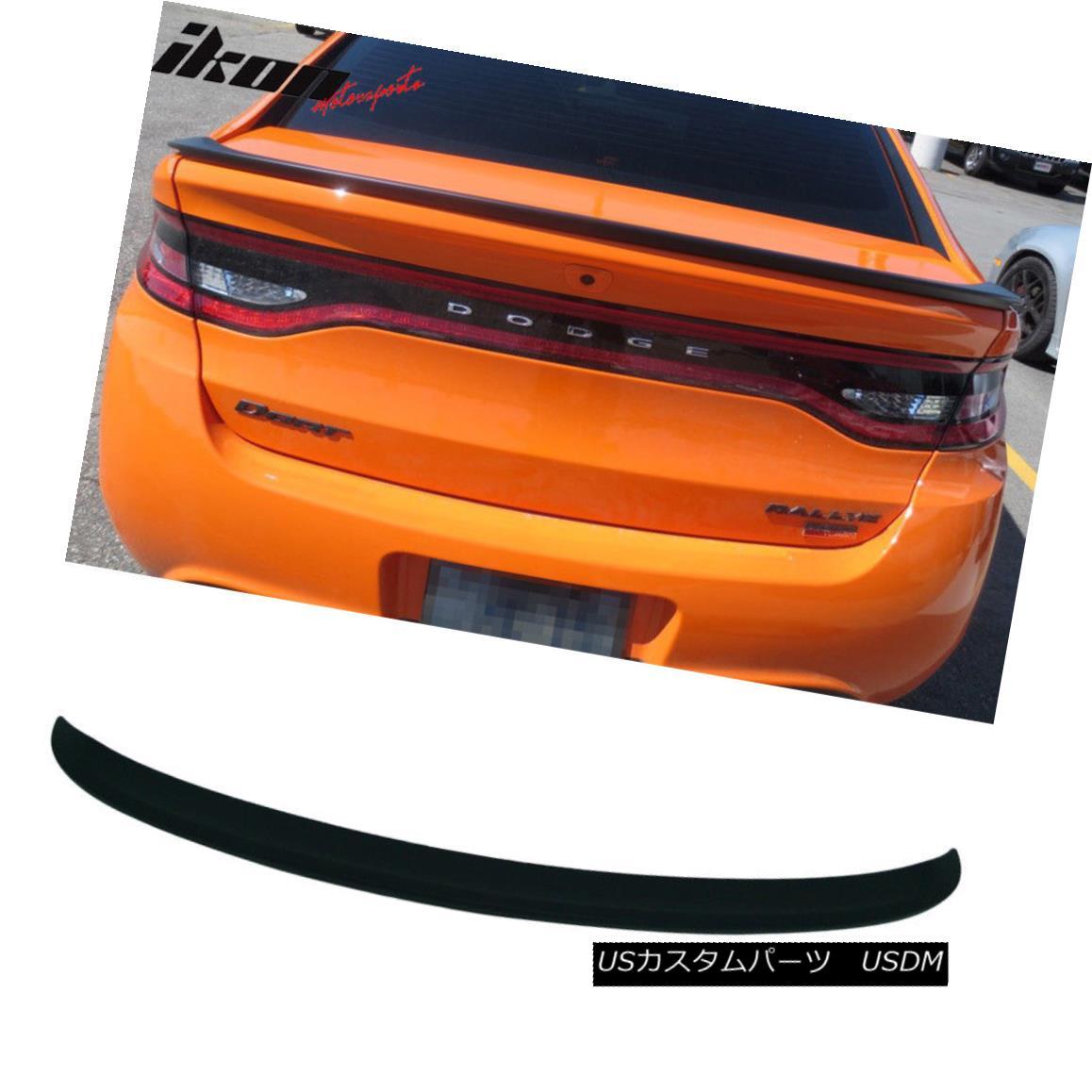 エアロパーツ Matte Black! Fits 13-16 Dodge Dart OE Factory Style Trunk Spoiler ABS マットブラック! 13-16 Dodge Dart OE工場スタイルのトランク・スポイラーABSに適合