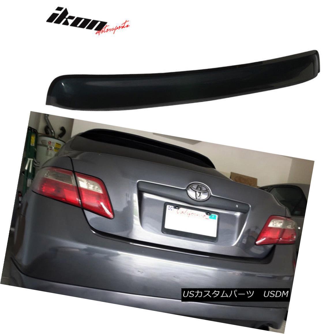 エアロパーツ Fits 07-11 Toyota Camry Xv40 Sedan 4Dr Rear Roof Visor Vent Shade - Acrylic フィット07-11トヨタカムリXv40セダン4Drリアルーフバイザーベントシェード - アクリル