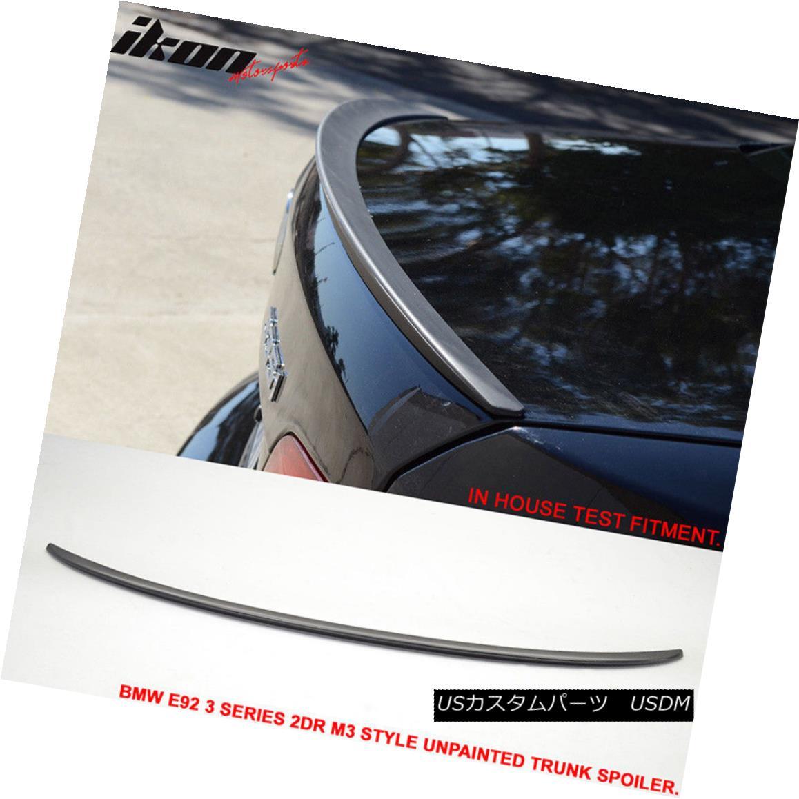 エアロパーツ 07-13 BMW E92 3 Series 2Dr M3 Type Unpainted Trunk Spoiler - ABS 07-13 BMW E92 3シリーズ2Dr M3タイプ無塗装トランク・スポイラー - ABS