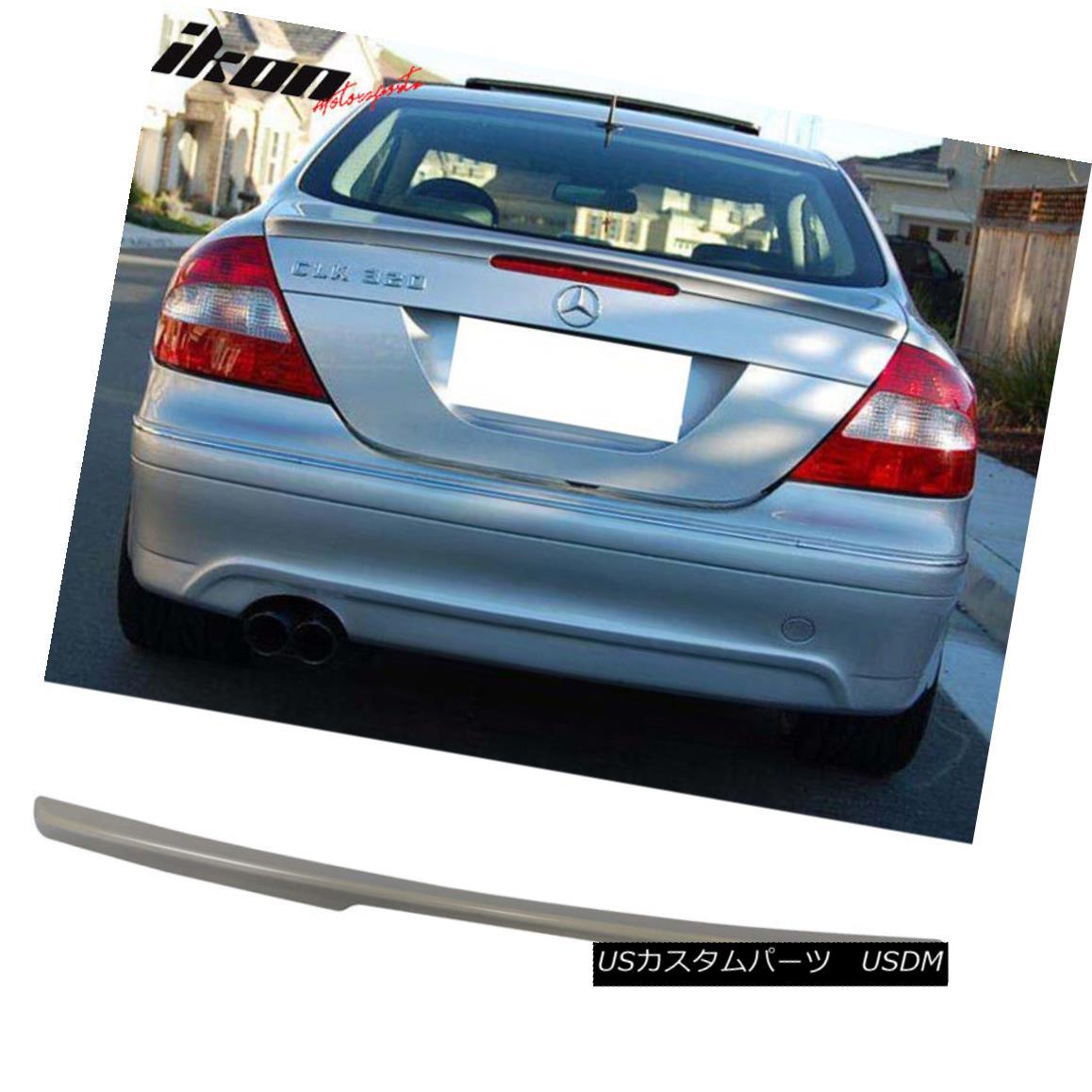 エアロパーツ 03-08 Mercedes-Benz W209 CLK-Class 2Dr Coupe ABS Rear Trunk Deck Lid Spoiler 03-08メルセデスベンツW209 CLKクラス2DrクーペABSリアトランクデッキリッドスポイラー