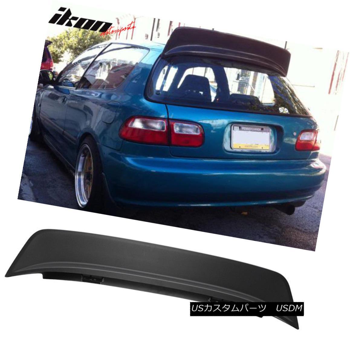 エアロパーツ 92-95 Honda Civic EG 3Dr Hatchback ABS Black JDM BYS Style Roof Spoiler 92-95ホンダシビックEG 3DrハッチバックABSブラックJDM BYSスタイルルーフスポイラー