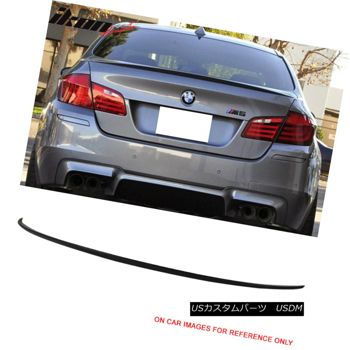 11-16 BMW F10 5 Series AC-S Style Trunk Spoiler Painted Matte Black ABS