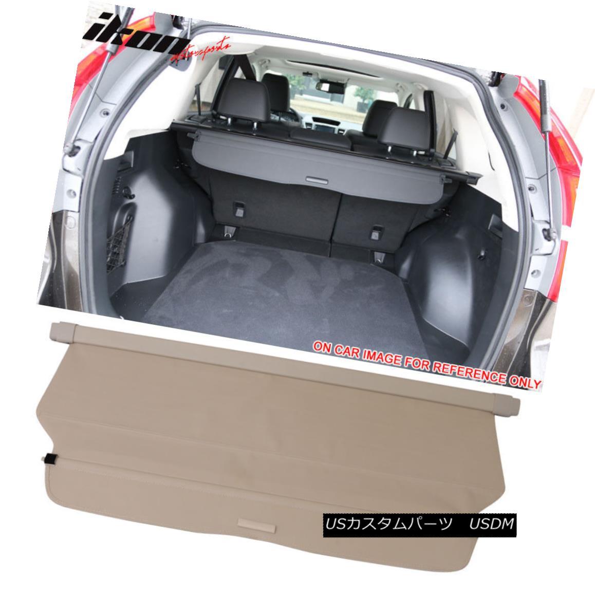 エアロパーツ Fits 12-16 CRV CR-V OE Retractable Rear Cargo Security Trunk Cover Beige New 12-16 CRV CR-V OEリトラクタブルリアカーゴセキュリティトランクカバーベージュに適合
