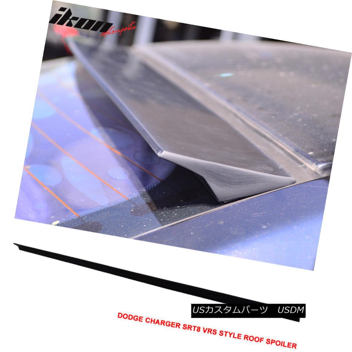 エアロパーツ 11-16 Dodge Charger SRT8 2nd VRS Style Roof Spoiler Unpainted Black - PUF 11-16ドッジ充電器SRT8第2のVRSスタイルルーフスポイラー無塗装黒 - PUF