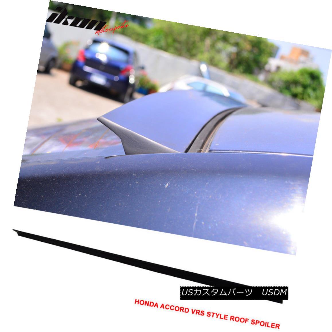 エアロパーツ Fit 08-12 Honda Accord 8th VRS Style Roof Spoiler Unpainted Black - PUF フィット08-12ホンダアコード8th VRSスタイルルーフスポイラー無塗装黒 - PUF