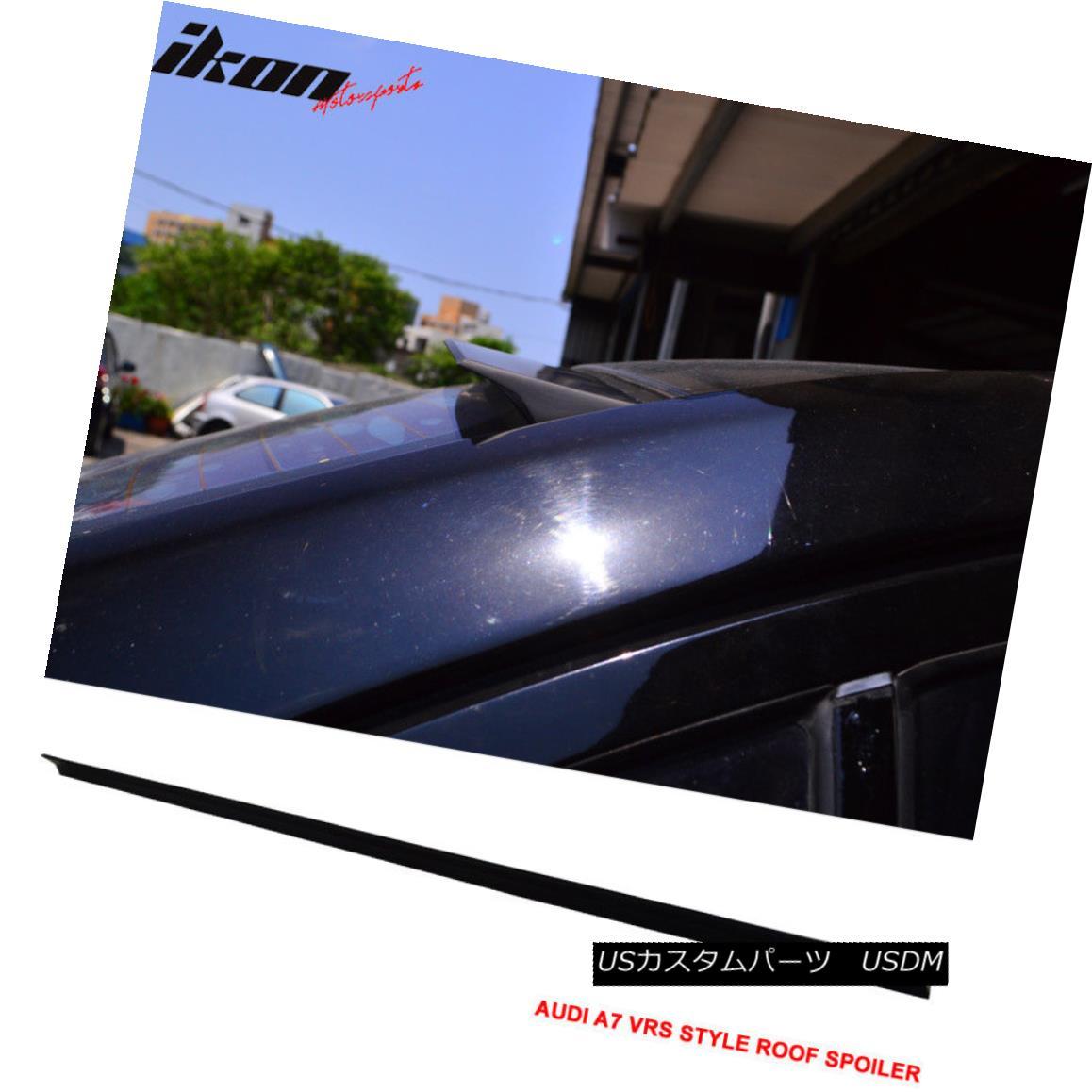 エアロパーツ 12-17 Audi A7 4G VRS Style Roof Spoiler Unpainted Black - PUF 12-17 Audi A7 4G VRSスタイルルーフスポイラー無塗装黒 - PUF