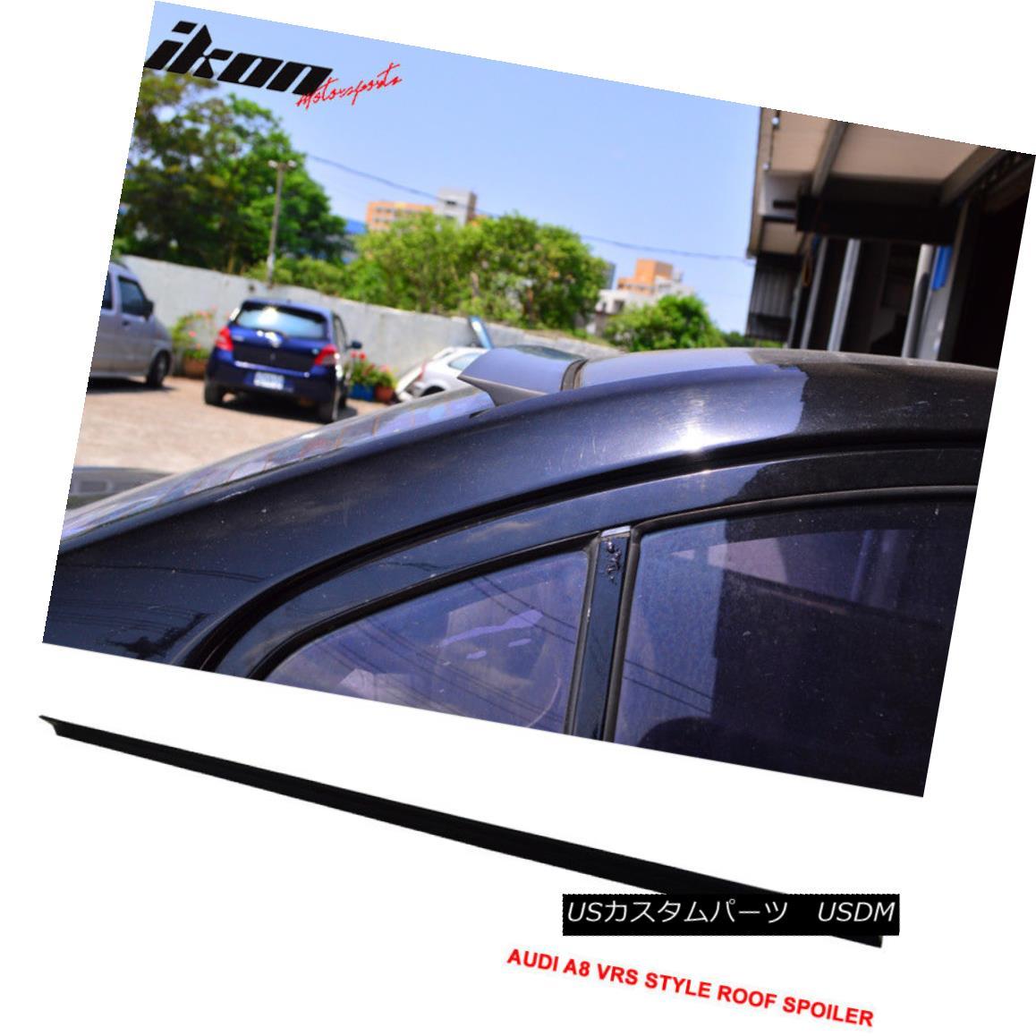 エアロパーツ 10-16 Audi A8 4H VRS Style Roof Spoiler Unpainted Black - PUF 10-16アウディA8 4H VRSスタイルルーフスポイラー無塗装黒 - PUF