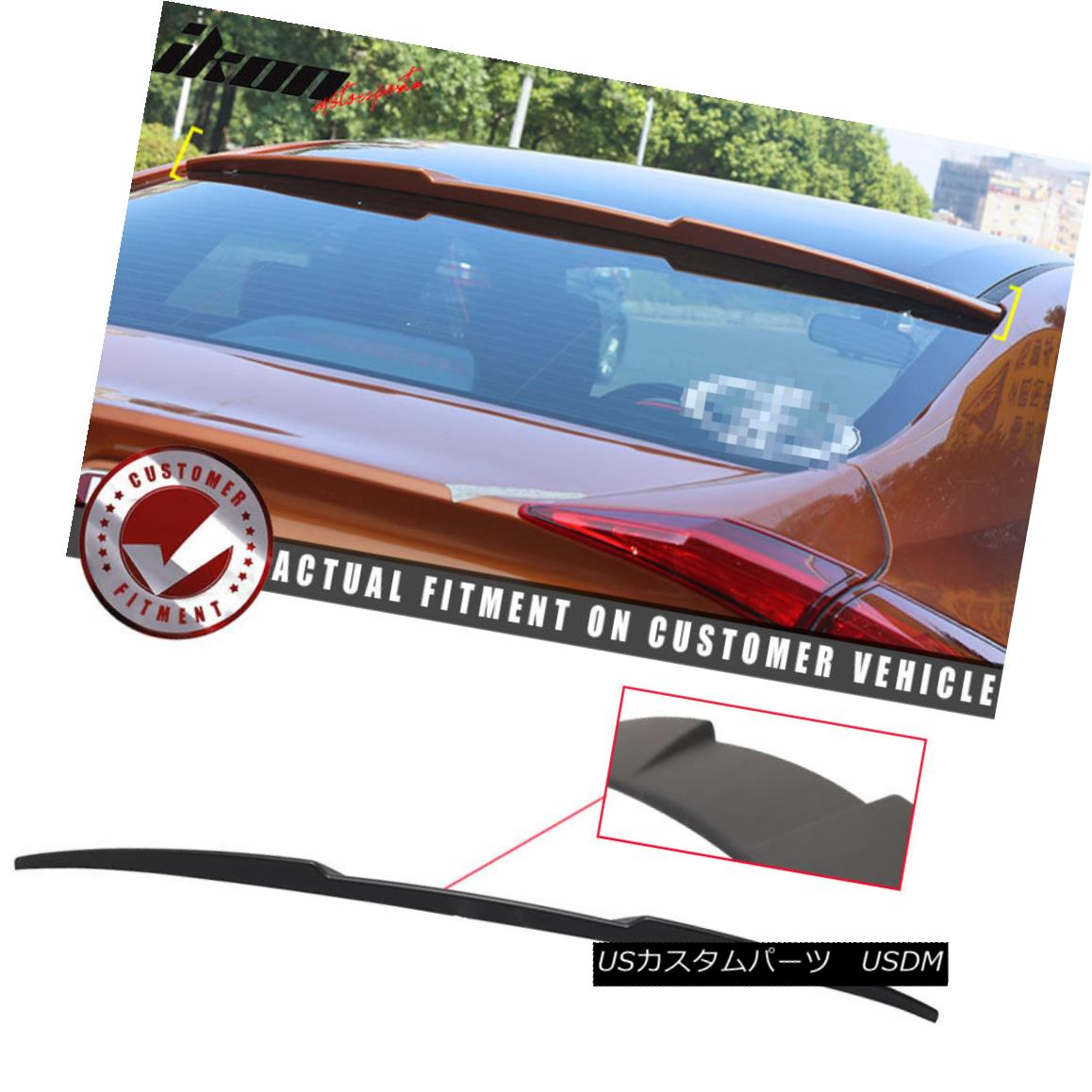エアロパーツ 16-18 Honda Civic X Sedan 10th Gen 4Dr IKON Style Unpainted Roof Spoiler - ABS 16-18ホンダシビックXセダン第10世代4Dr IKONスタイル未塗装ルーフスポイラー - ABS