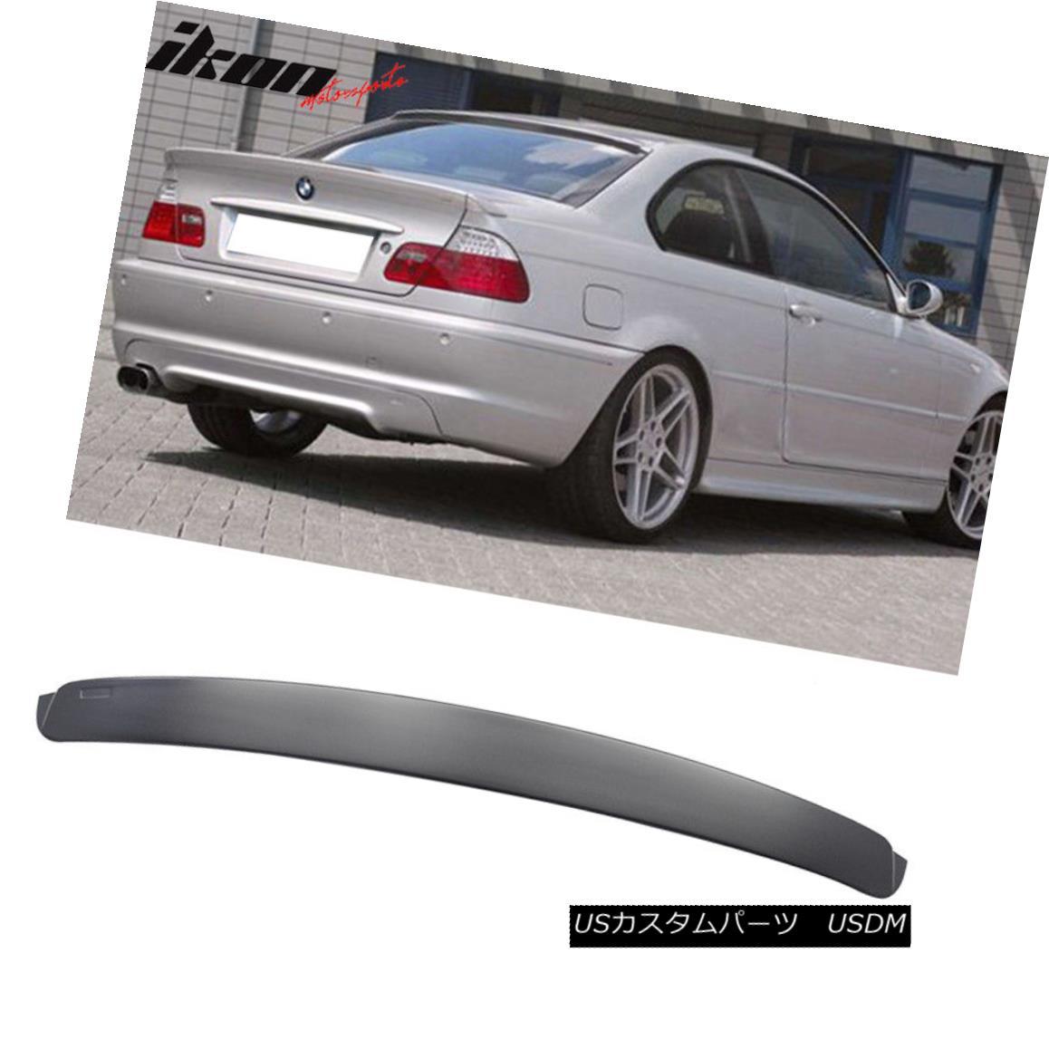 エアロパーツ Fits 99-05 BMW E46 3-Series M3 Coupe AC Style Unpainted ABS Rear Roof Spoiler フィット99-05 BMW E46 3シリーズM3クーペACスタイル未塗装ABSリアルーフスポイラー