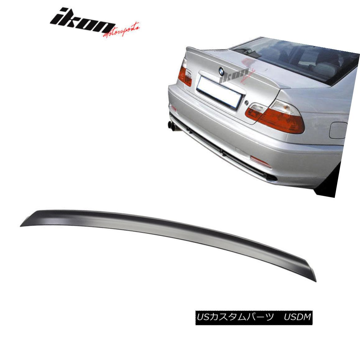 エアロパーツ 99-05 BMW E46 4Dr ACS Style Rear Trunk Spoiler Wing Lid ABS Unpainted 99-05 BMW E46 4Dr ACSスタイルリアトランク・スポイラーウィング・ライドABS無塗装