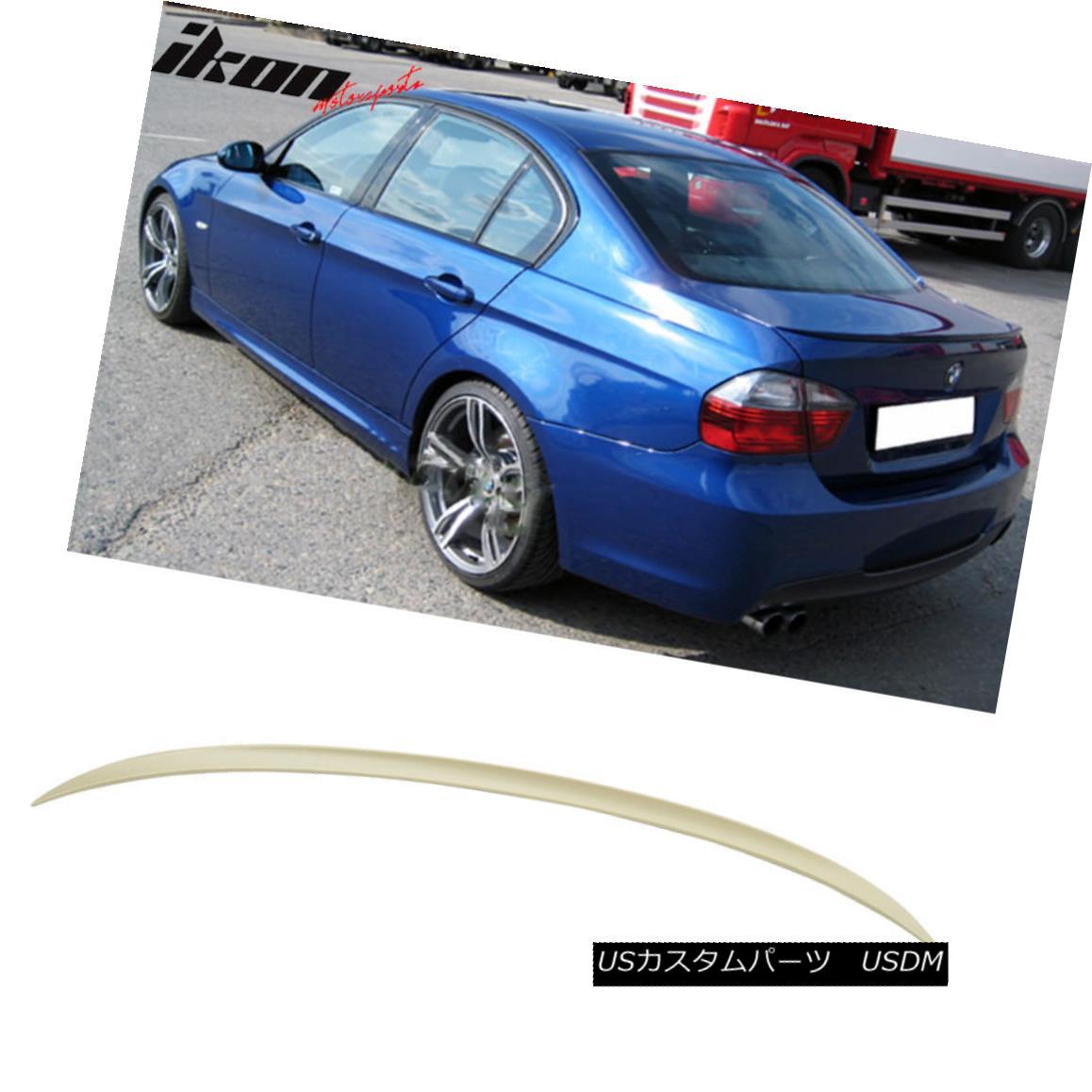 エアロパーツ Fits 06-11 BMW 3-Series E90 Sedan M3 Style Unpainted ABS Trunk Spoiler Wing フィット06-11 BMW 3シリーズE90セダンM3スタイル無塗装ABSトランクスポイラーウイング