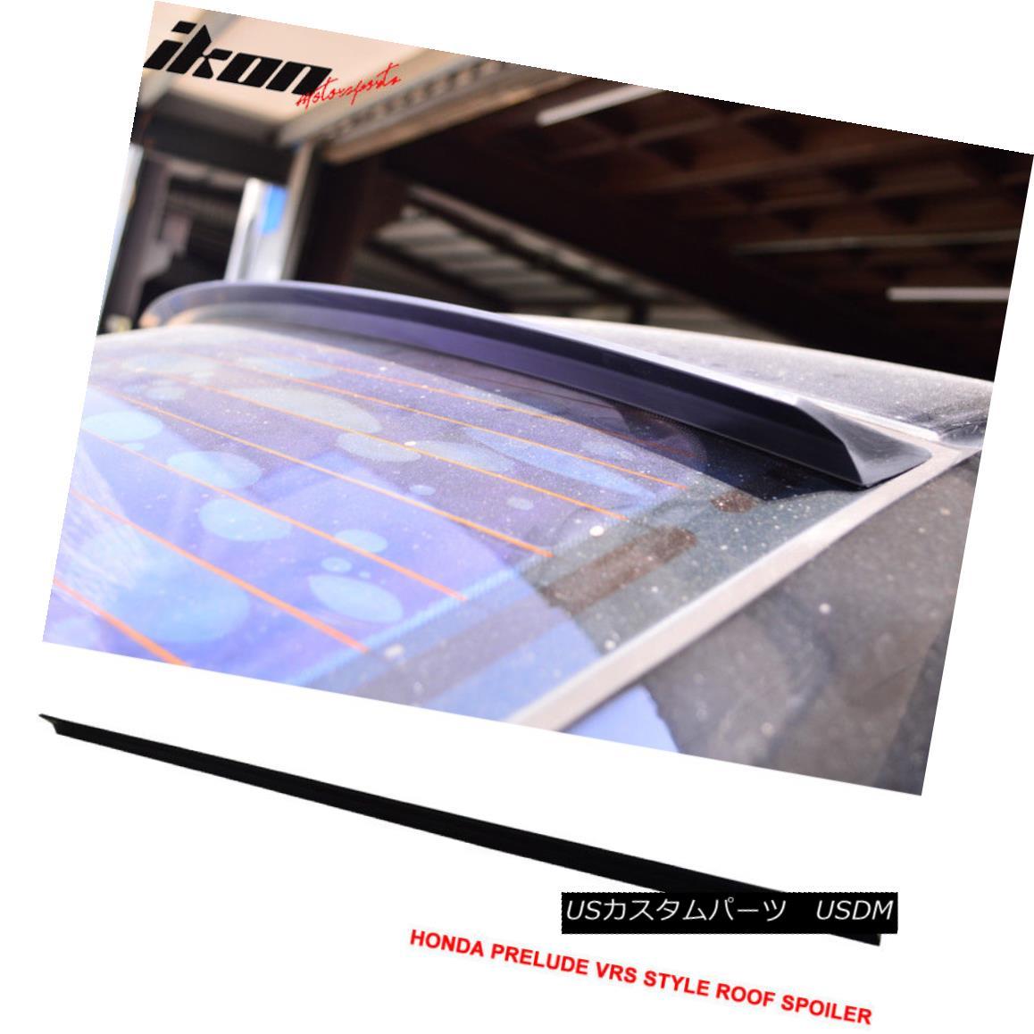 エアロパーツ 97-01 Honda Prelude 5th 2Dr VRS Style Roof Spoiler Unpainted Black - PUF 97-01ホンダプレリュード5th 2Dr VRSスタイルルーフスポイラー無塗装黒 - PUF