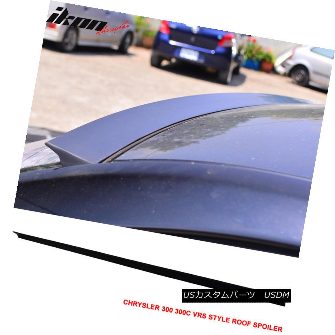 エアロパーツ 11-16 Chrysler 300 300C VRS Style Roof Spoiler Unpainted Black - PUF 11-16クライスラー300 300C VRSスタイルルーフスポイラー無塗装黒 - PUF