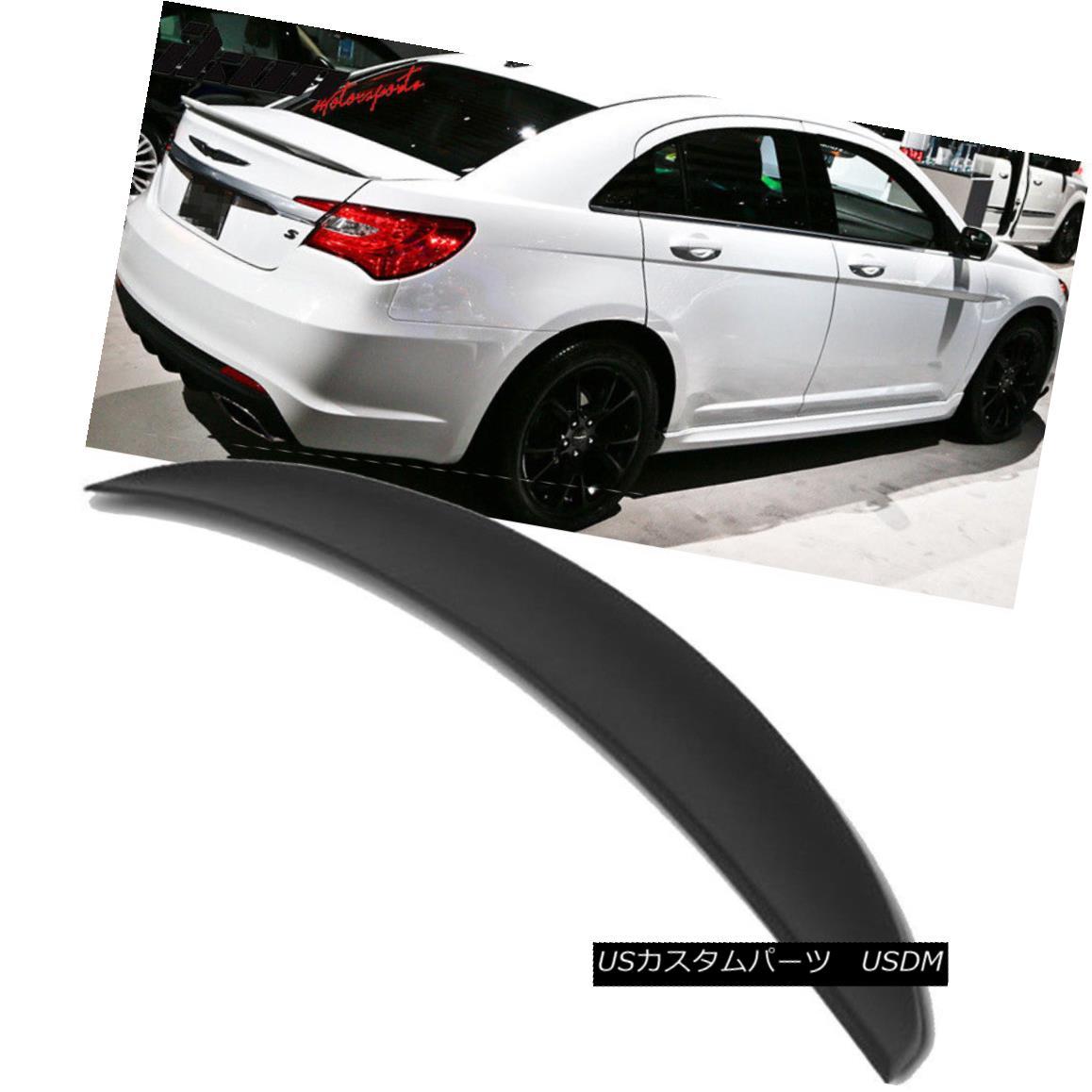 エアロパーツ Fits 11-14 Chrysler 200 4Dr Flush Mount OE Style Trunk Spoiler-Matte Black フィット11-14クライスラー200 4DrフラッシュマウントOEスタイルトランクスポイラー - マットブラック
