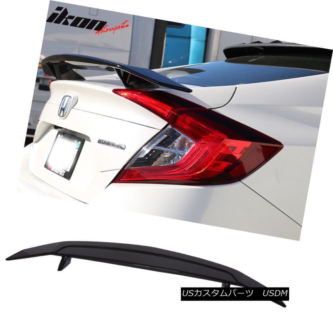 エアロパーツ Fits 99-05 Mazda Miata Convertible Ikon Type A Trunk Spoiler Wing-Glossy Black フィット99-05マツダMiataコンバーチブルIkonタイプAトランク・スポイラーウイング・グロッシー・ブラック