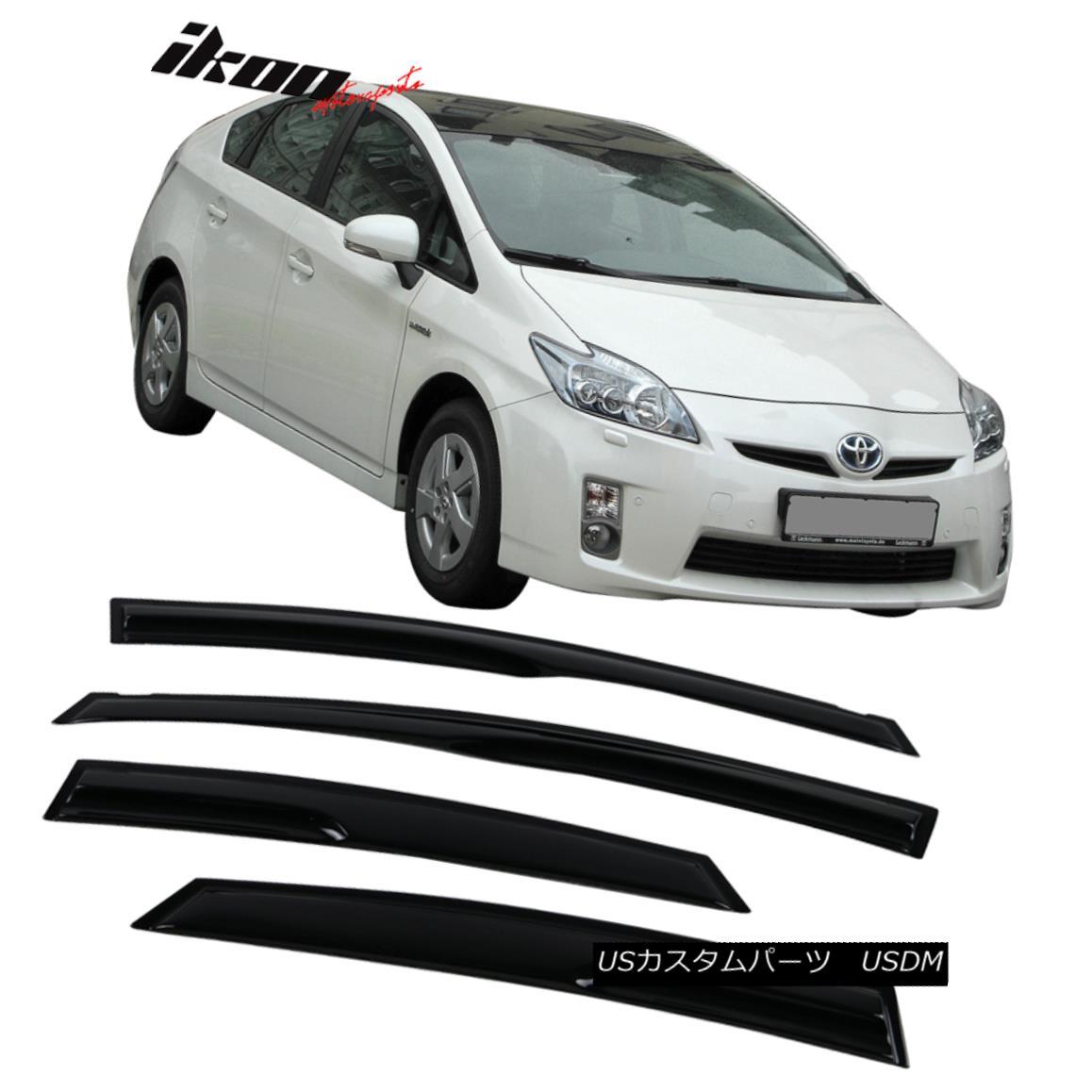 注目のブランド エアロパーツ Fits 10-15 Toyota Prius Mugen Style Acrylic Window Visors 4Pc Set トヨタ自動車プリウス・ミュゲスタイルのアクリルウインドウバイザー4個セット, アングラーズショップ ライジング 44958b8a