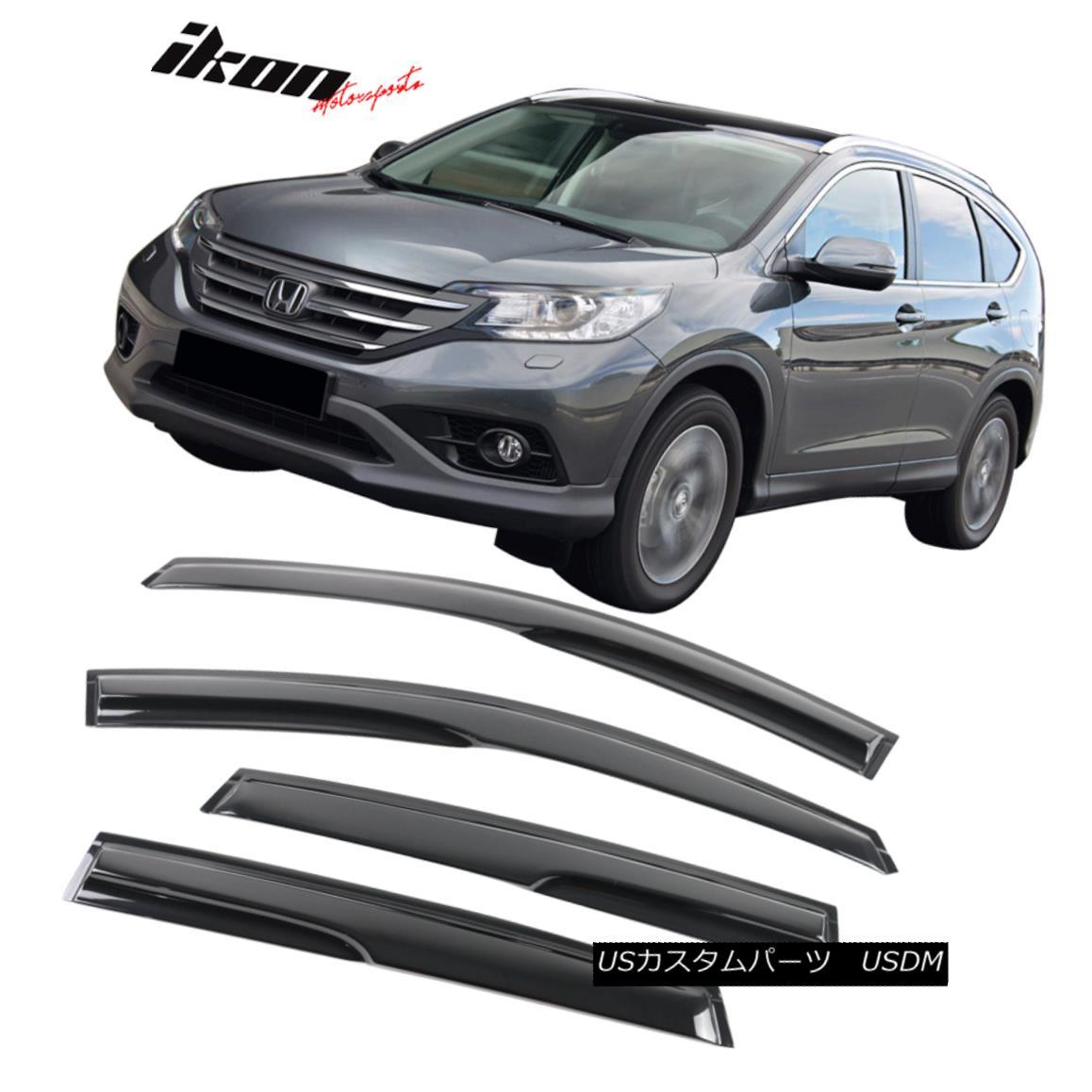 贅沢品 エアロパーツ Fits 12-16 Honda CRV Mugen Style Acrylic Window Visors 4Pc Set 12-16 Honda CRV Mugenスタイルのアクリル窓バイザー4個セット, リバティプリントショップmerci 9cac3f60