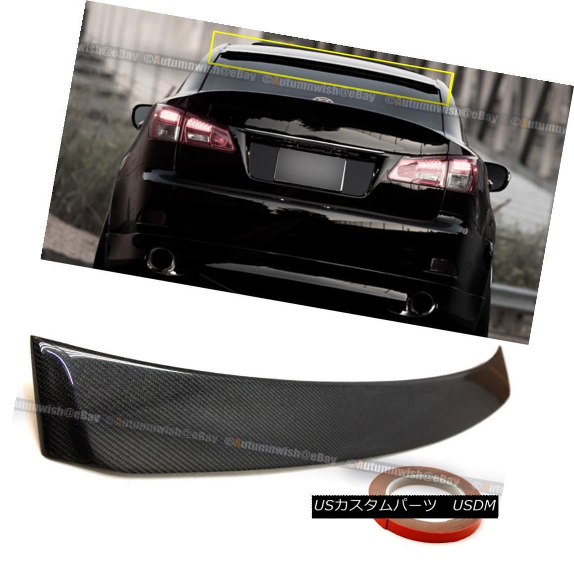 エアロパーツ Fit 2006 2013 Lexus IS 250 /350/ ISF VIP Real Carbon Fiber Rear Top Roof Spoiler Fit 2006 2013 Lexus IS 250/350 / ISF VIPリアルカーボンファイバーリアトップルーフスポイラー