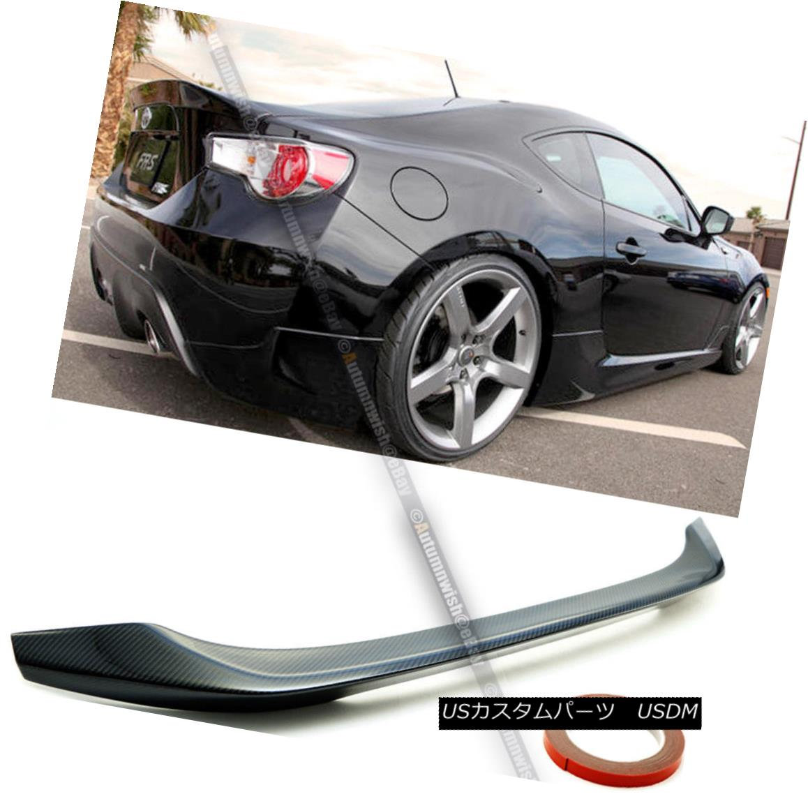 エアロパーツ Fits 13 14 15 16 FRS BRZ JDM FA Style Real Carbon Fiber Rear Trunk Wing Spoiler フィット13 14 15 16 FRS BRZ JDM FAスタイルリアルカーボンファイバーリアトランクウイングスポイラー