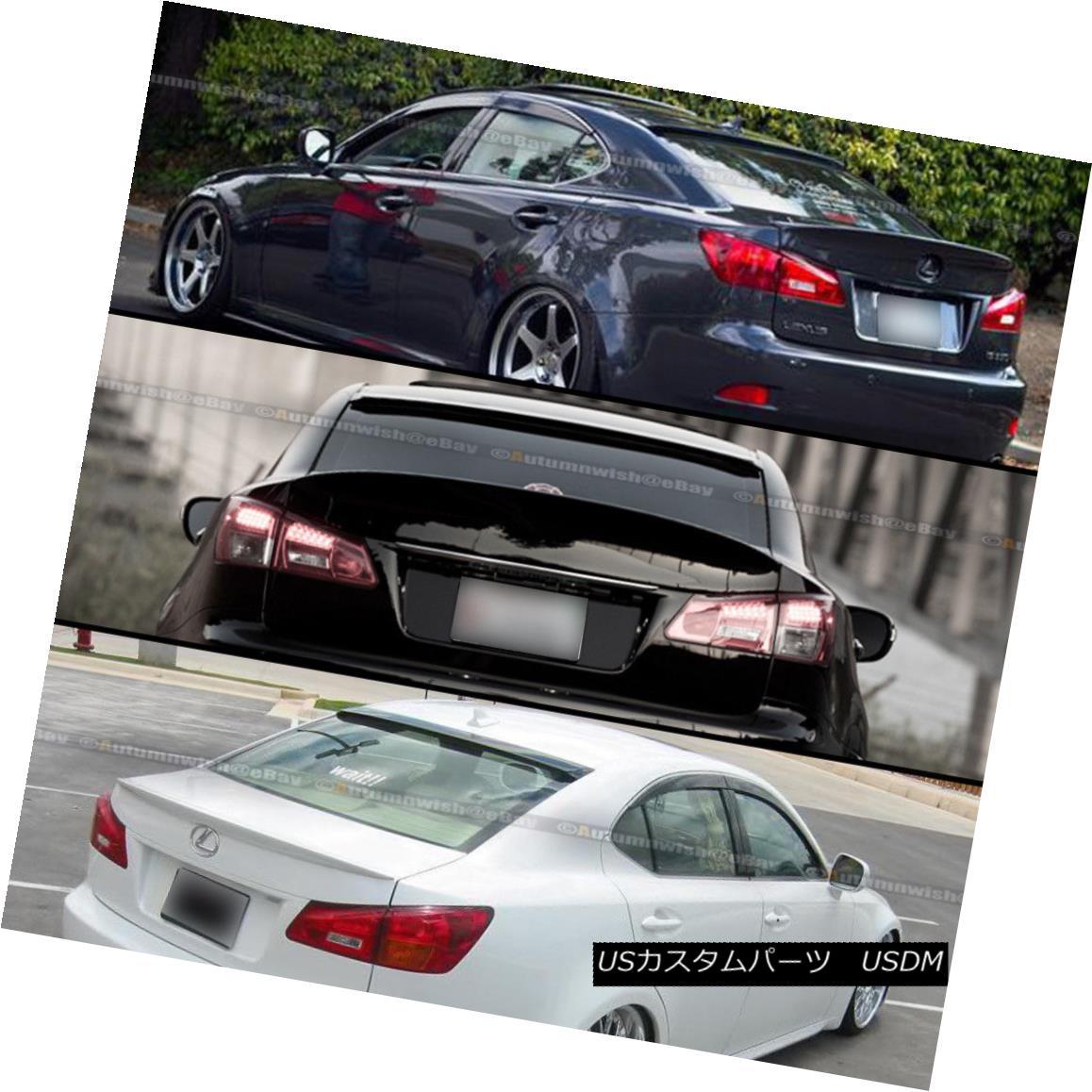 Fits 06-13 Lexus IS250 IS350 IS F Sport V2 PP Black Trunk Spoiler Wing