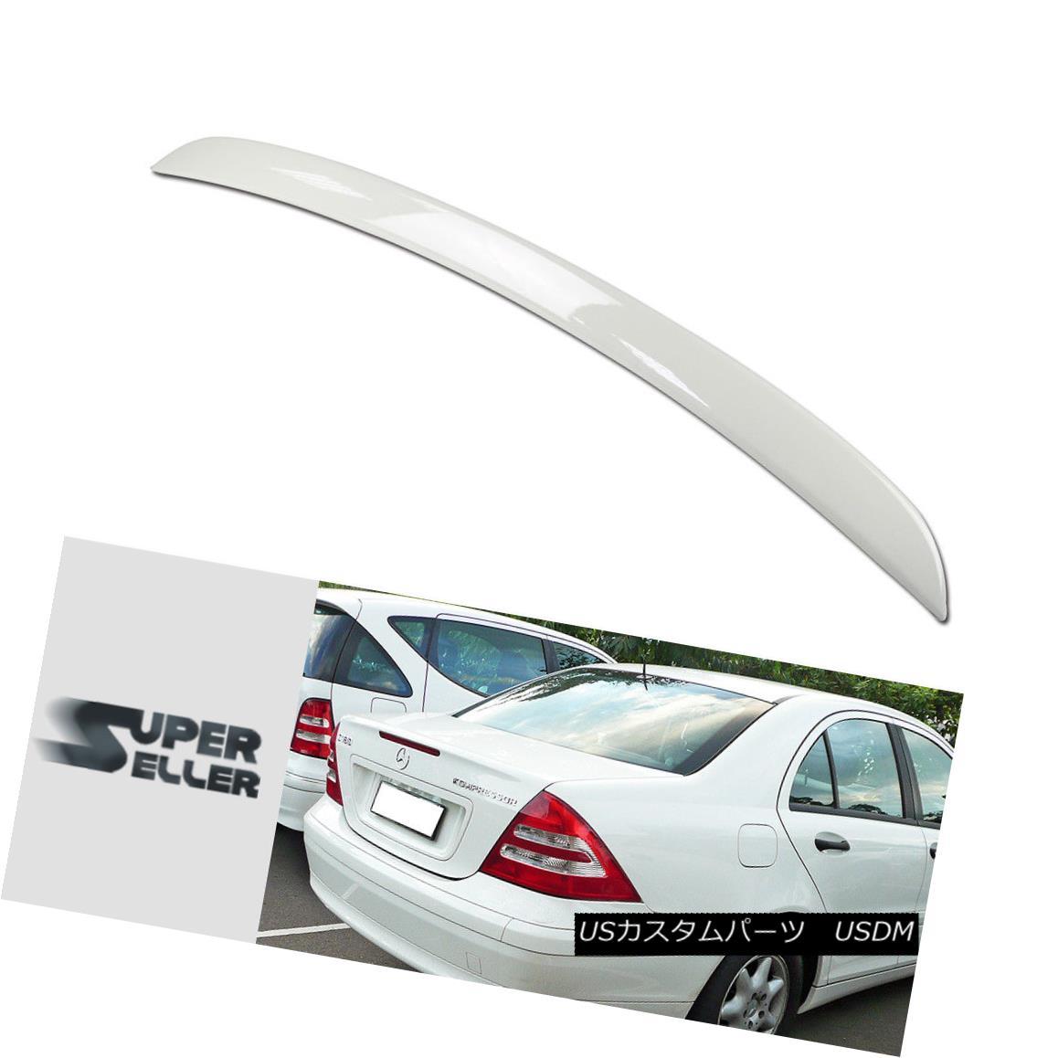 エアロパーツ A Type Mercedes BENZ C-Class W203 Rear Trunk Spoiler Painted Color #960 01-07 A型メルセデスベンツCクラスW203リアトランクスポイラー塗装済みカラー#960 01-07