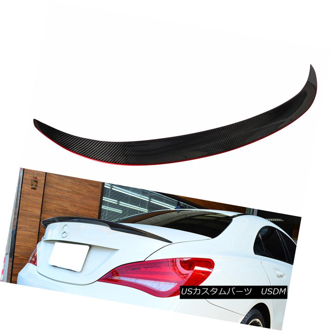 エアロパーツ CARBON + RED Mercedes BENZ W117 CLA Sedan D Trunk Spoiler CLA45 CLA250 2018 CARBON + REDメルセデスベンツW117 CLAセダンDトランクスポイラーCLA45 CLA250 2018