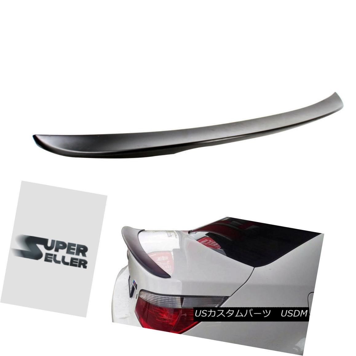 エアロパーツ Unpainted BMW 5-Series E60 Sedan P-Type High Kick Rear Trunk Spoiler Wing 525i 未塗装のBMW 5シリーズE60セダンP型ハイキックリアトランク・スポイラーウィング525i