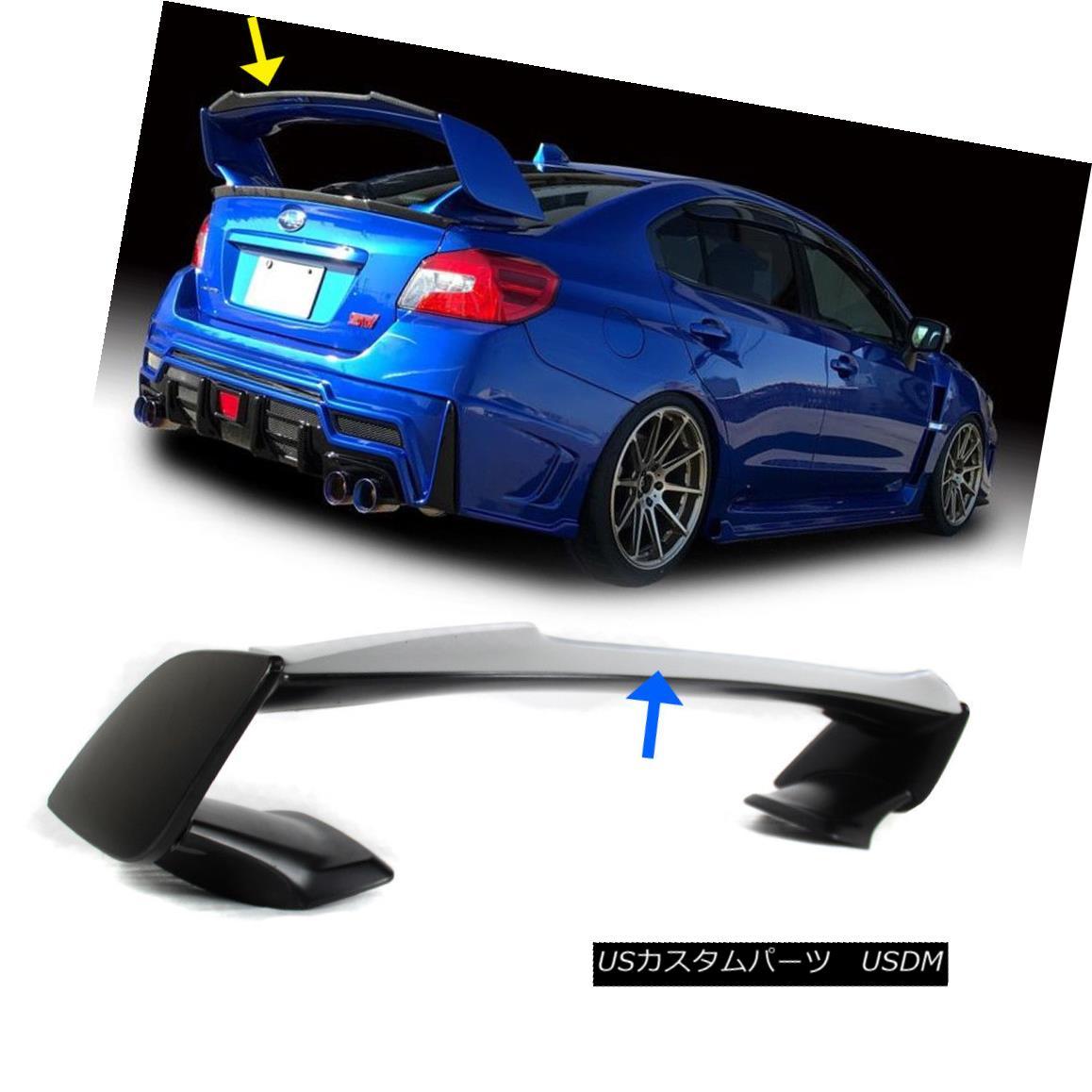 エアロパーツ Painted FOR Subaru WRX STI V Gurney Flap Lip STI Top Trunk Spoiler 2015-2018 スバルWRX STI VガーニーフラップリップSTIトップトランクスポイラー2015-2018